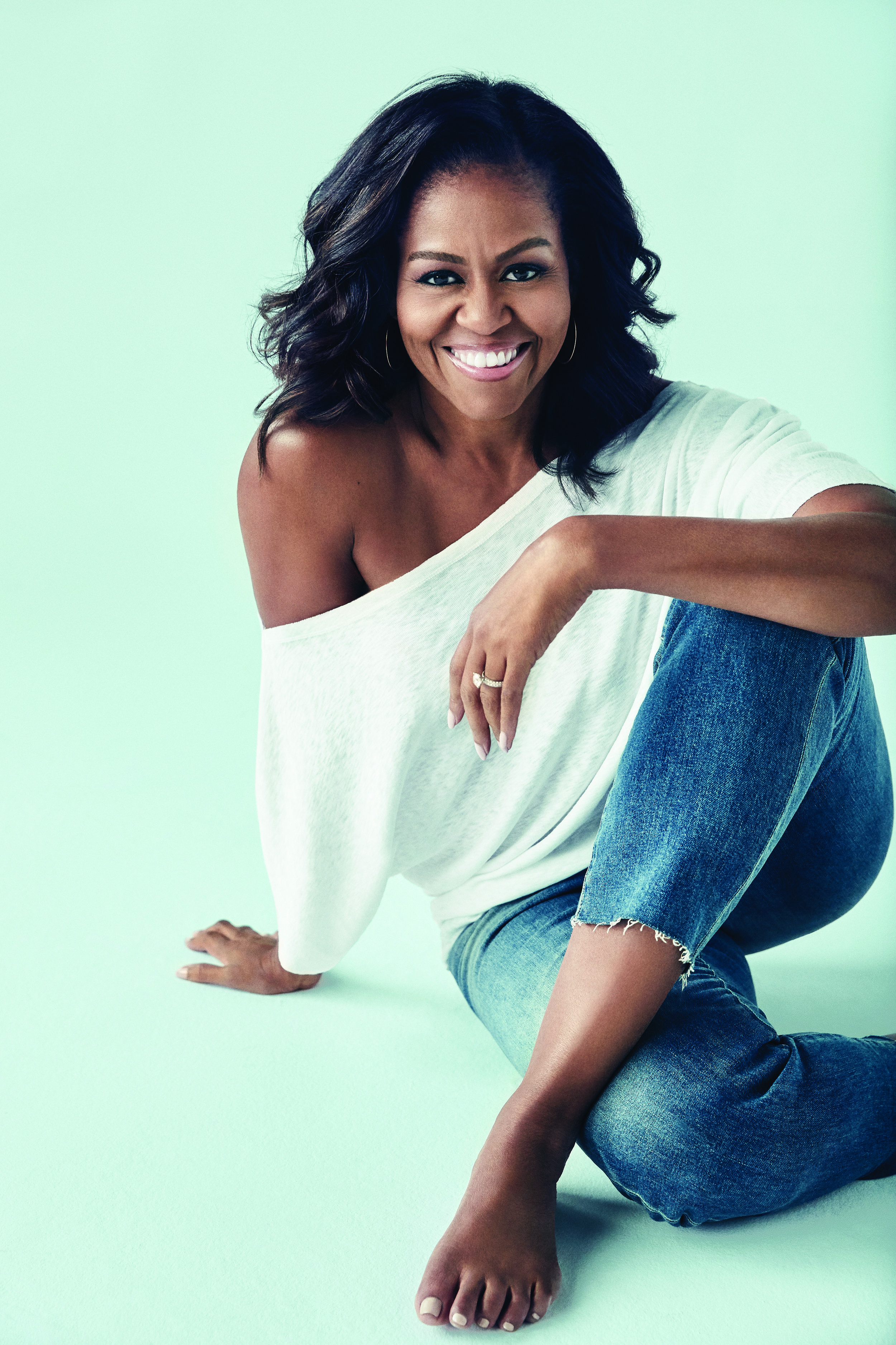 Michelle Obama, shortlisted twice - in Non-Fiction: Narrative and Audiook of the Year. CREDIT: Miller Mobley