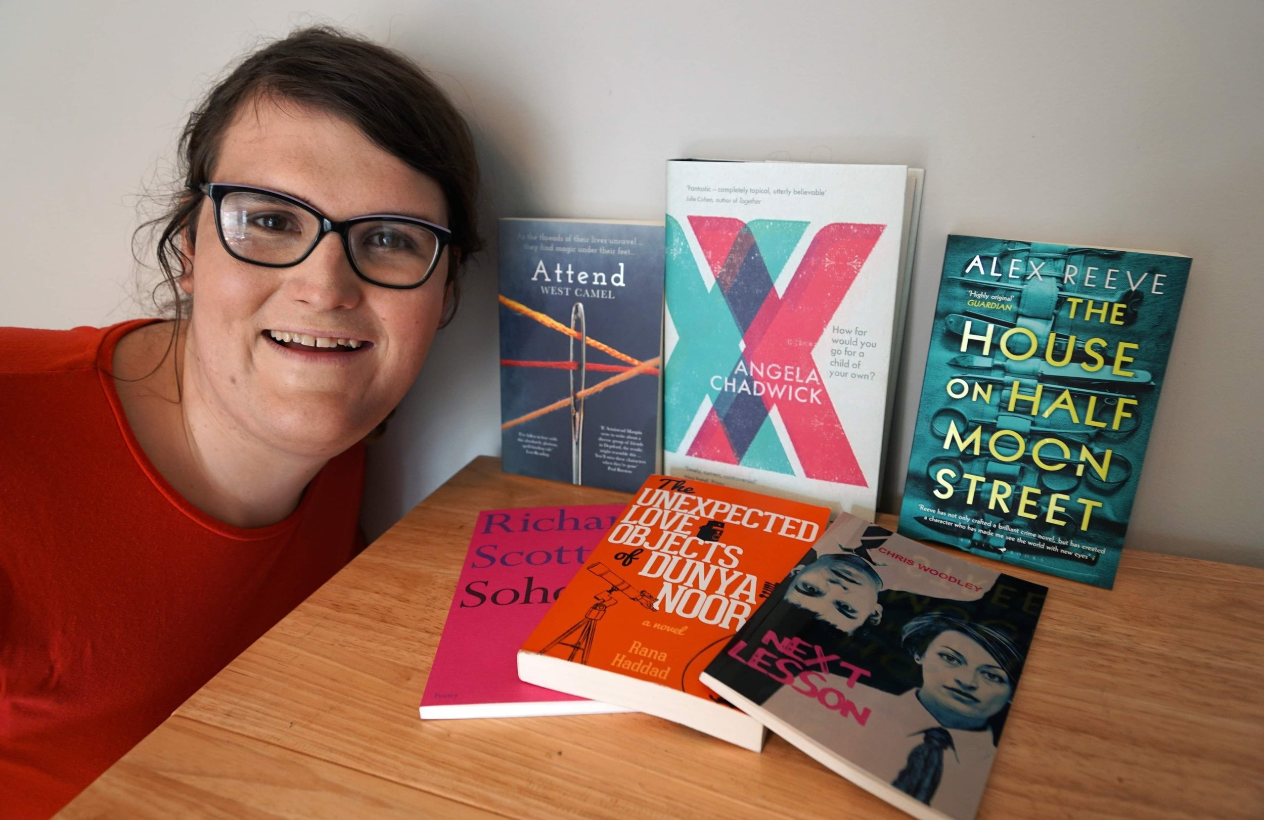 Cerys Evans with the Polari First Book Prize shortlist.
