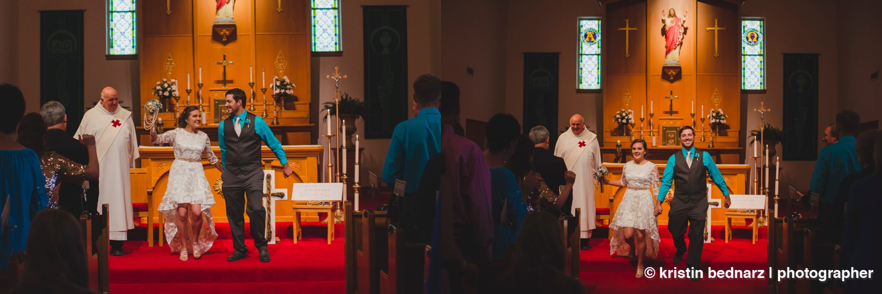 The ceremony was the prefect mix of seriousness and fun.  So much joy in that church that day!  So happy for these two!