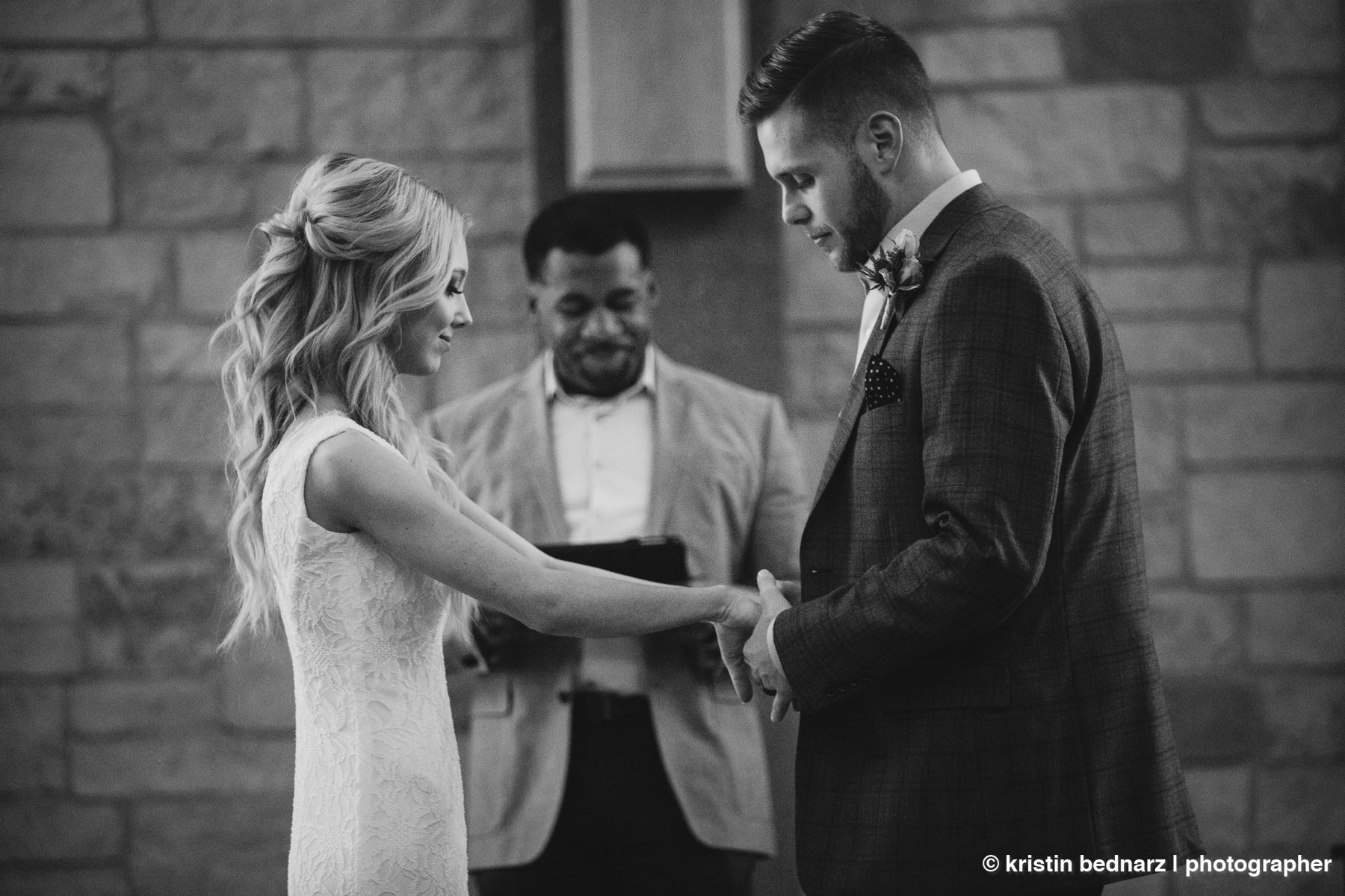 we pray.  We prayed over these two and the room was quiet.  I don't remember what was said, I only know it was a beautiful moment.  When you invite Jesus to your ceremony, you are starting out your married life right.