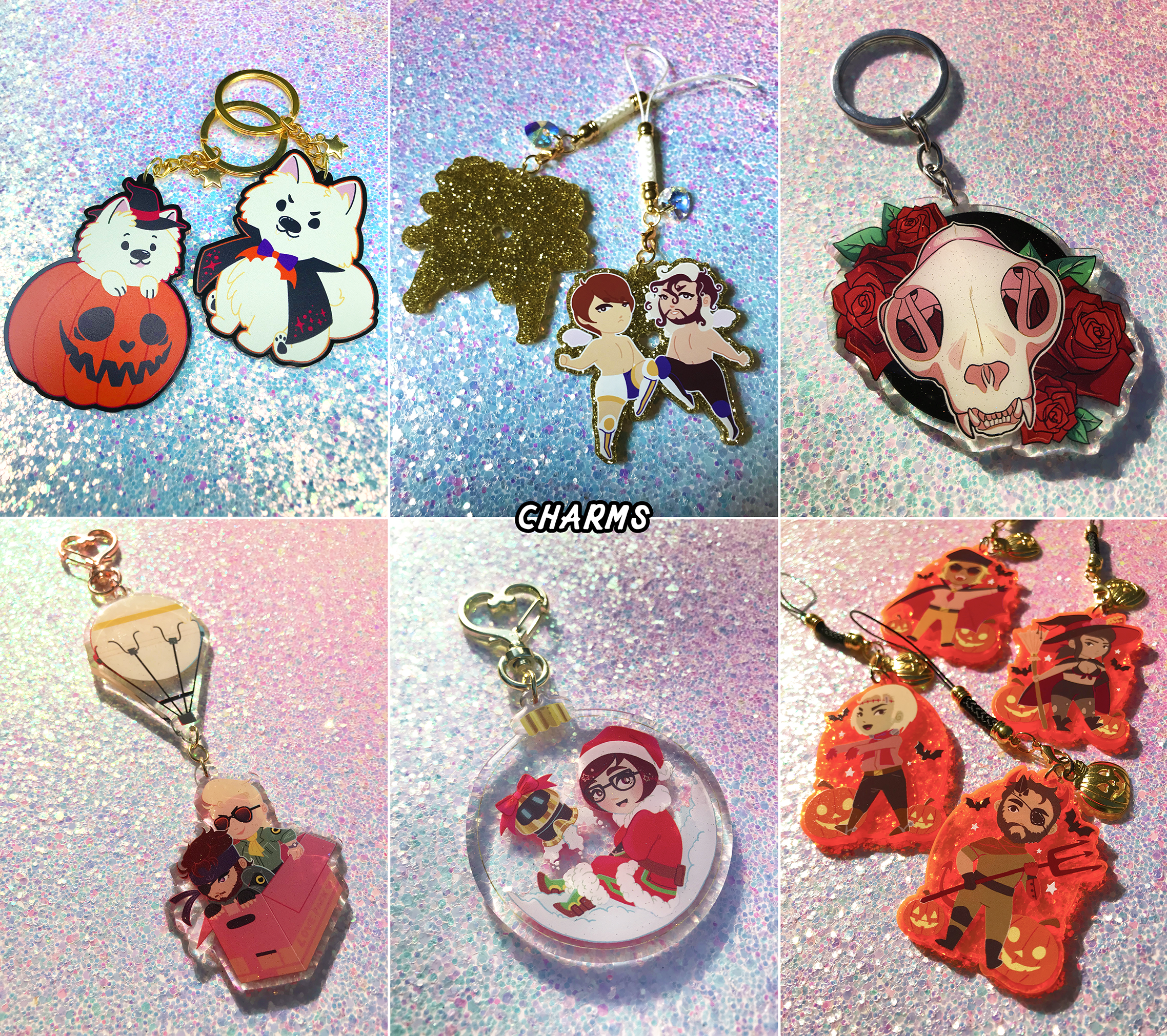 To see more charms,  click here  and  here !