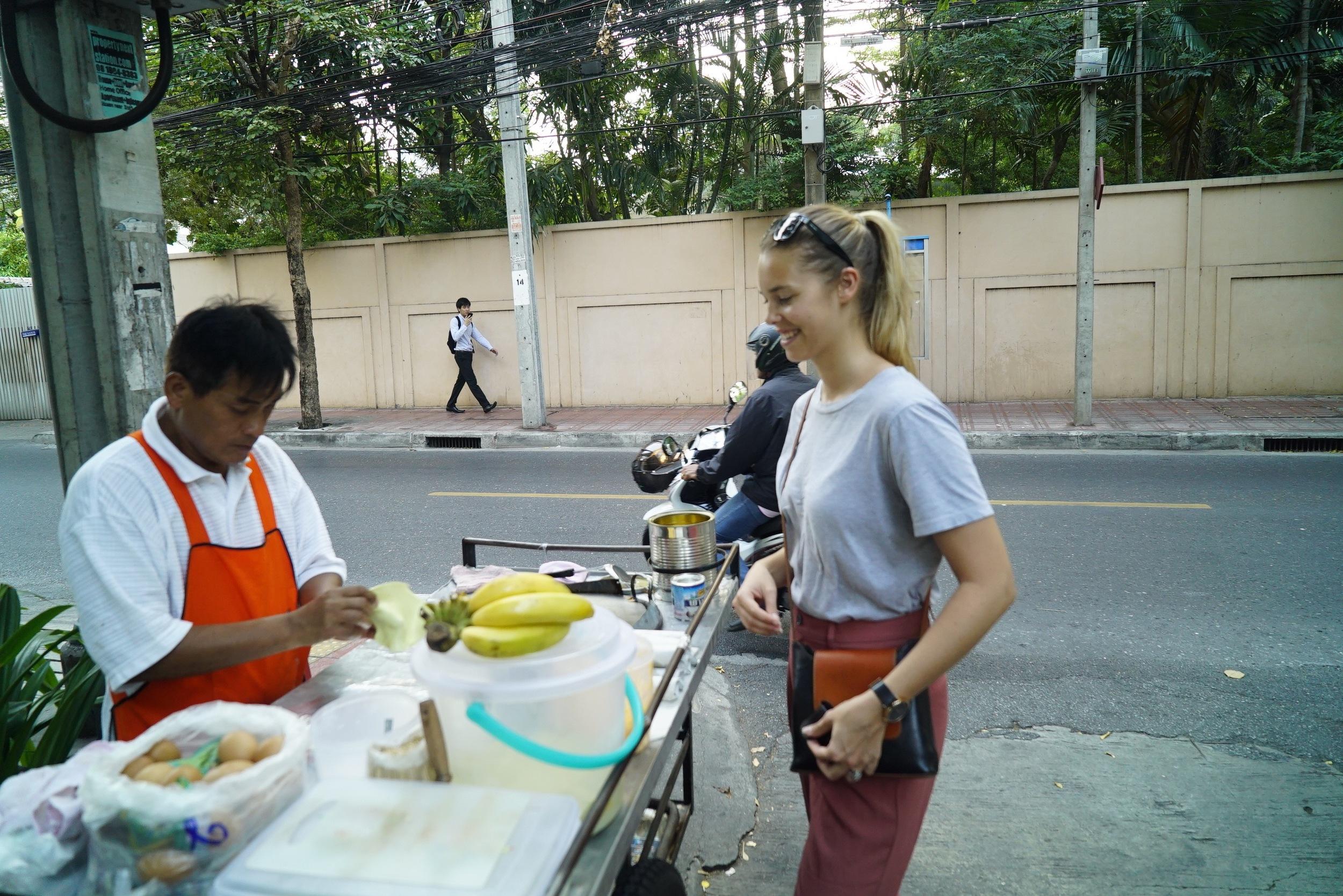 Bangkok Street Pancake Vendor