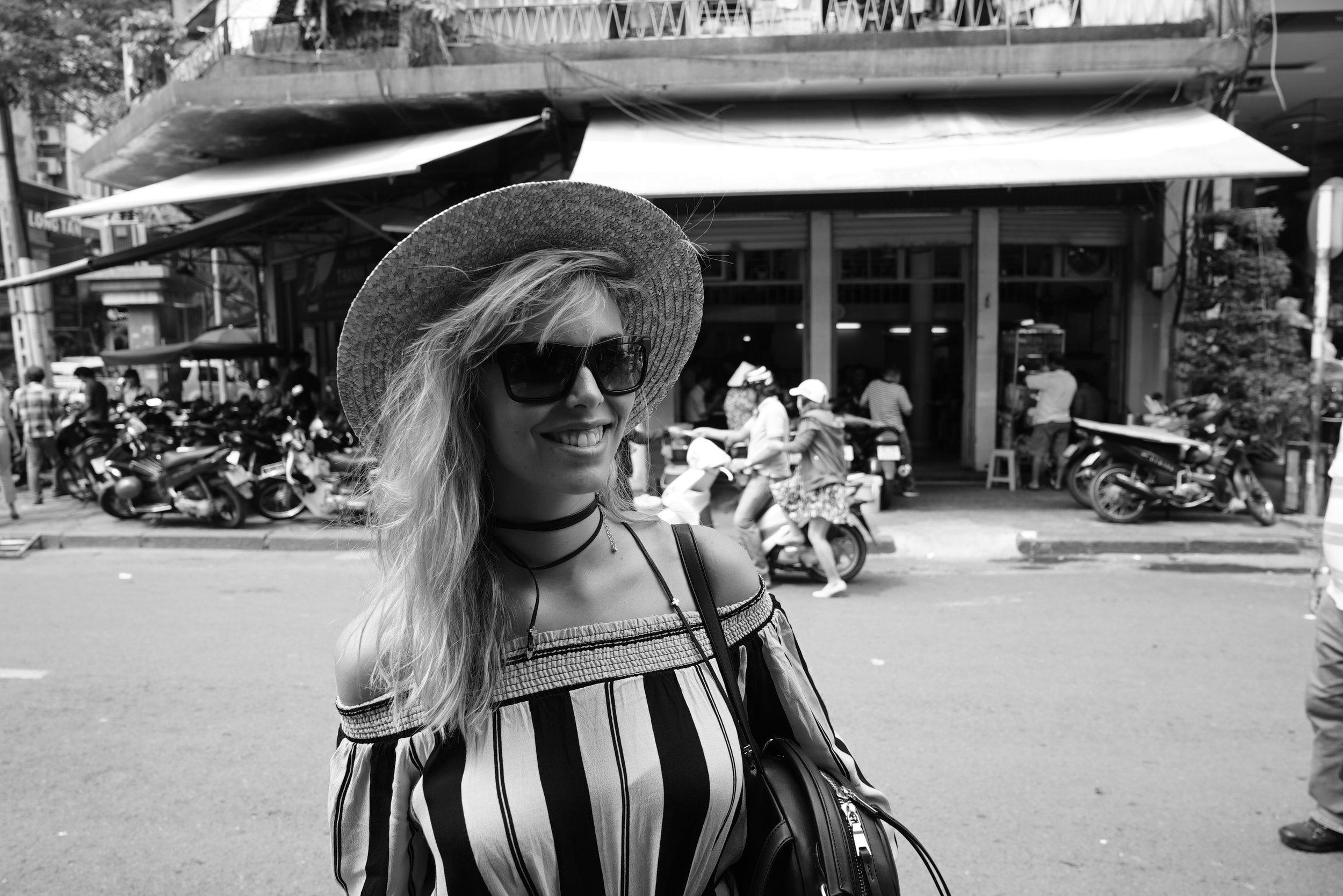 Phoebe in Ho Chi Min City Pho