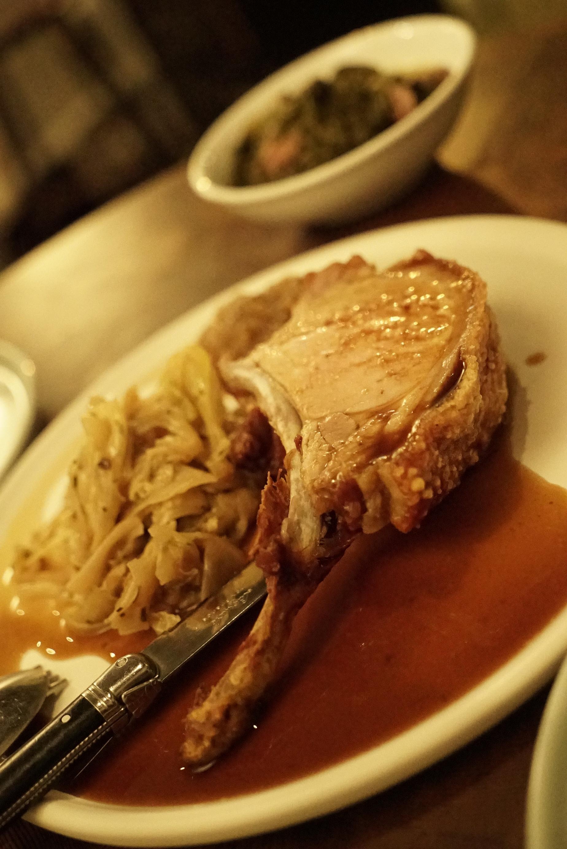 pork loin, forgotten cabbage and gravy mercado.JPG