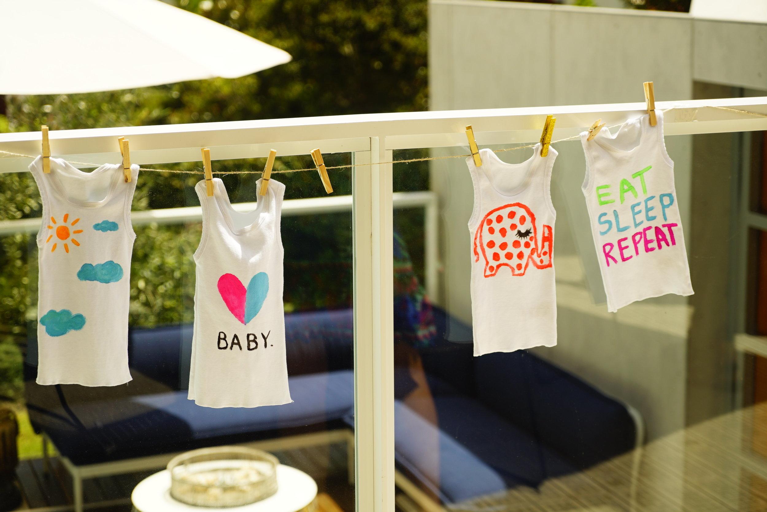 baby shower painted singlets.JPG