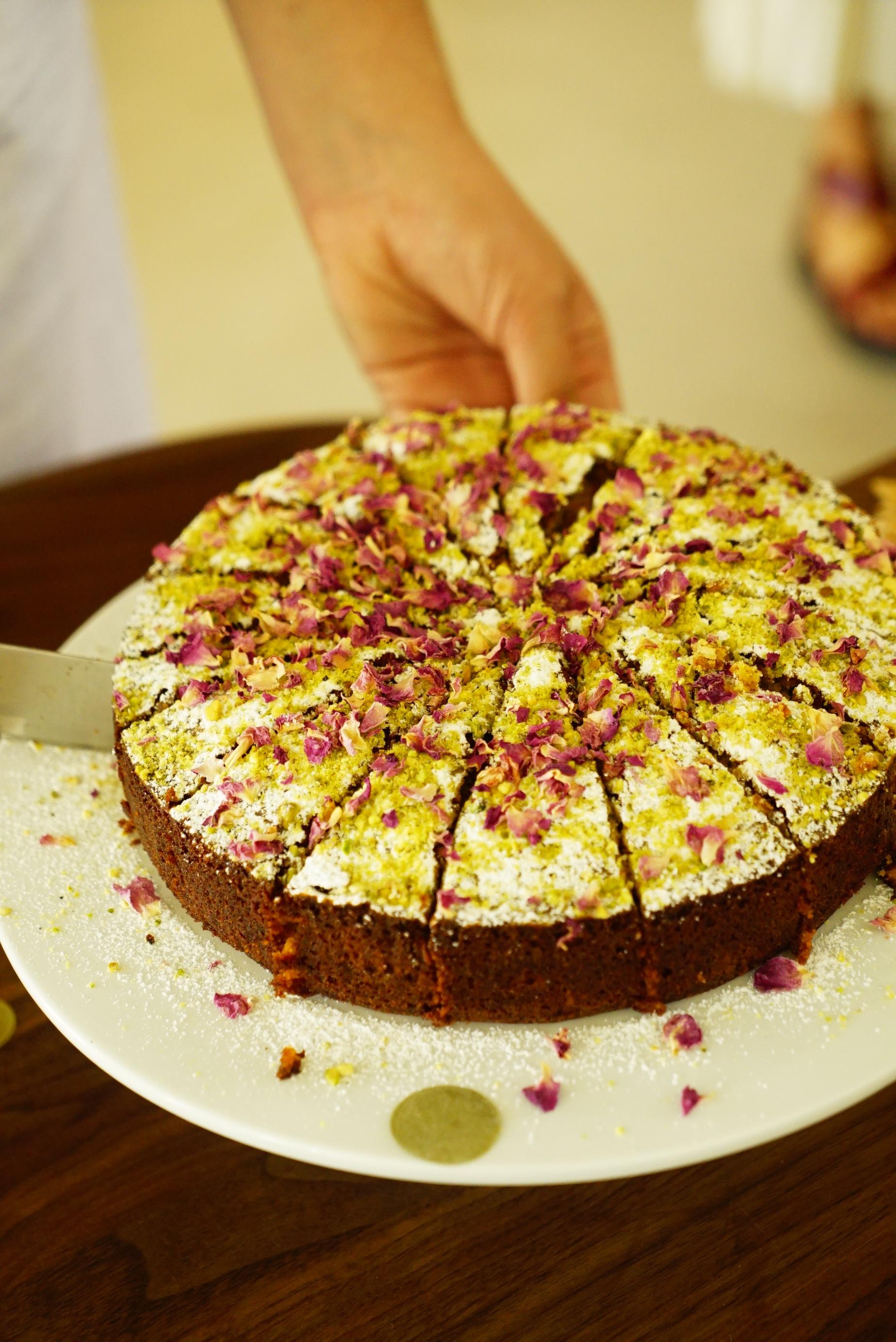 pistachio, semolina and rose water cake.JPG