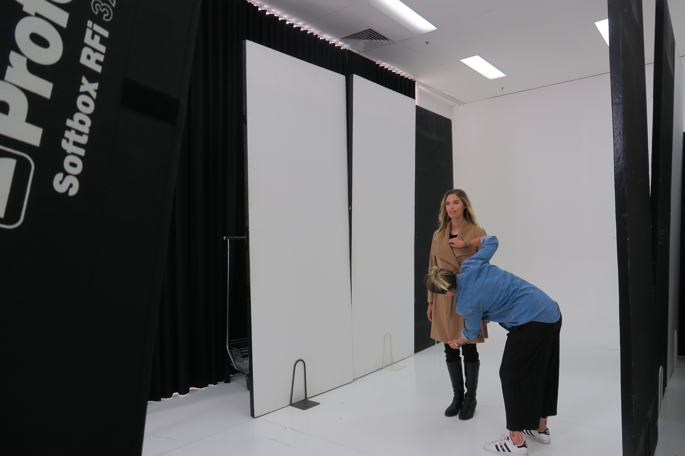 phoebe being styled on set.JPG