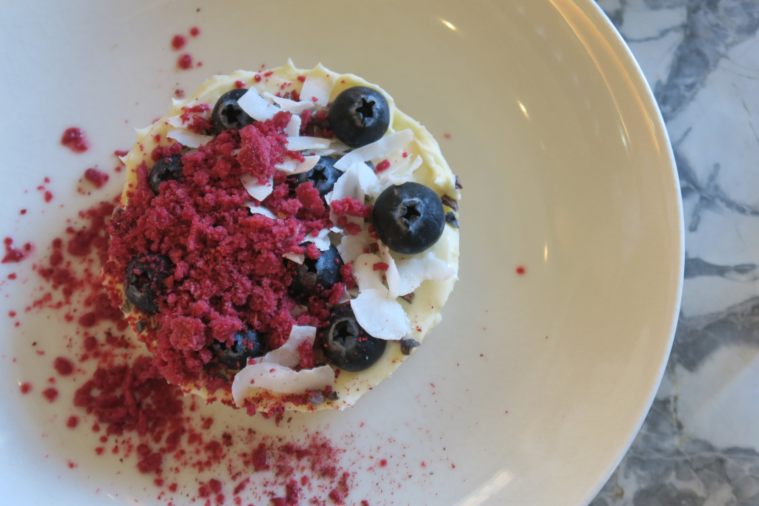 white chocolate mousse, plum, blueberry, cacao nib.JPG