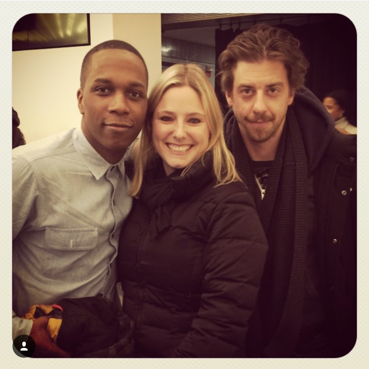 Laura with Leslie Odom Jr and Christian Borle