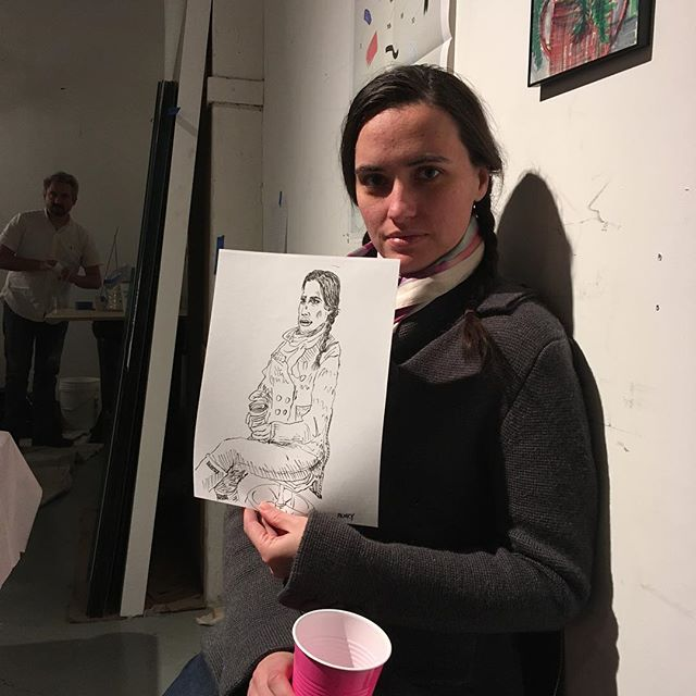 1st portrait of the day! Thanks @hoodvictoriaa Y'all swing by @safegallerybiz before 8pm for a portrait