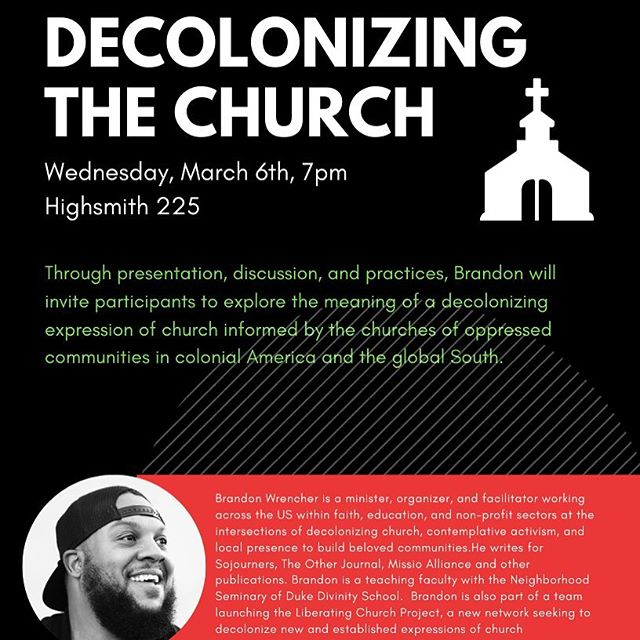 Excited to have Rev. Brandon Wrencher with us tomorrow (Wednesday) night to lead us in this important discussion. Hope to see you there! We'll have subs at 6:30 if you come early! #unca #ashevillewesley