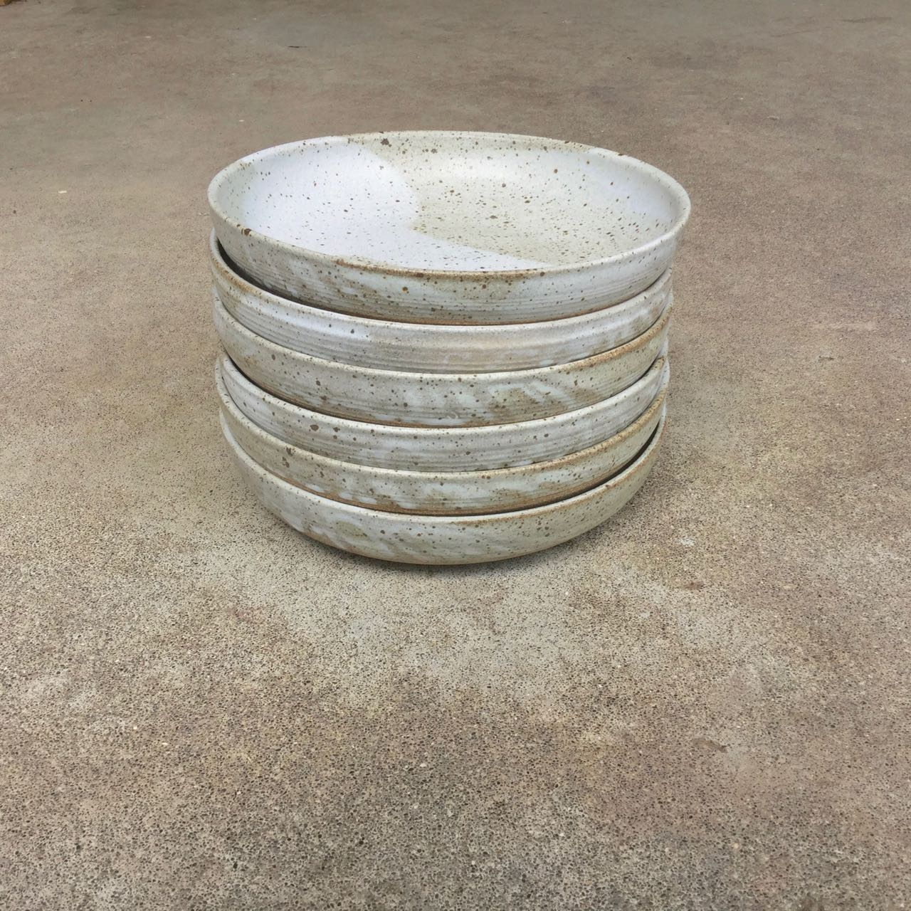 Set of shallow dinner bowls