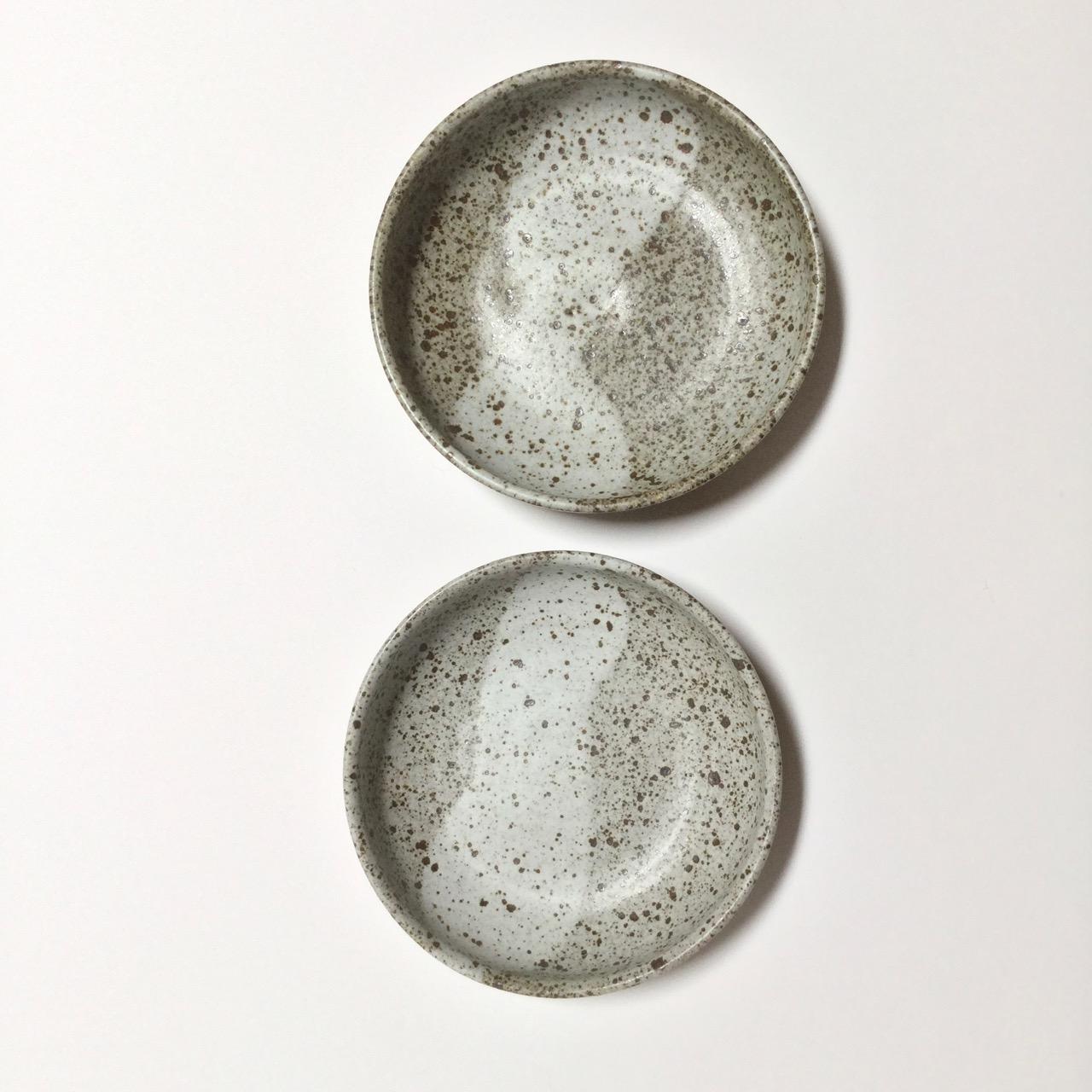 1071 Pair speckled low bowls top.jpg