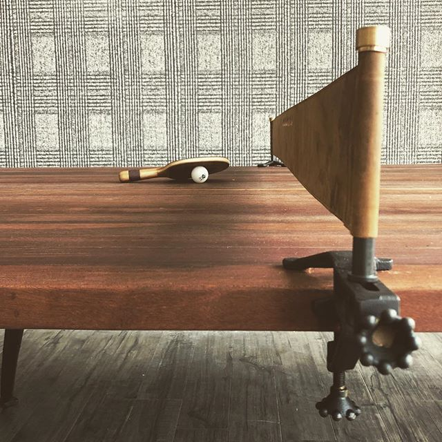 The beauty is in the details! Now who is ready for a game of ping pong?  #interiordesign #interiors #plaid #wallcovering #charlotteinteriordesign