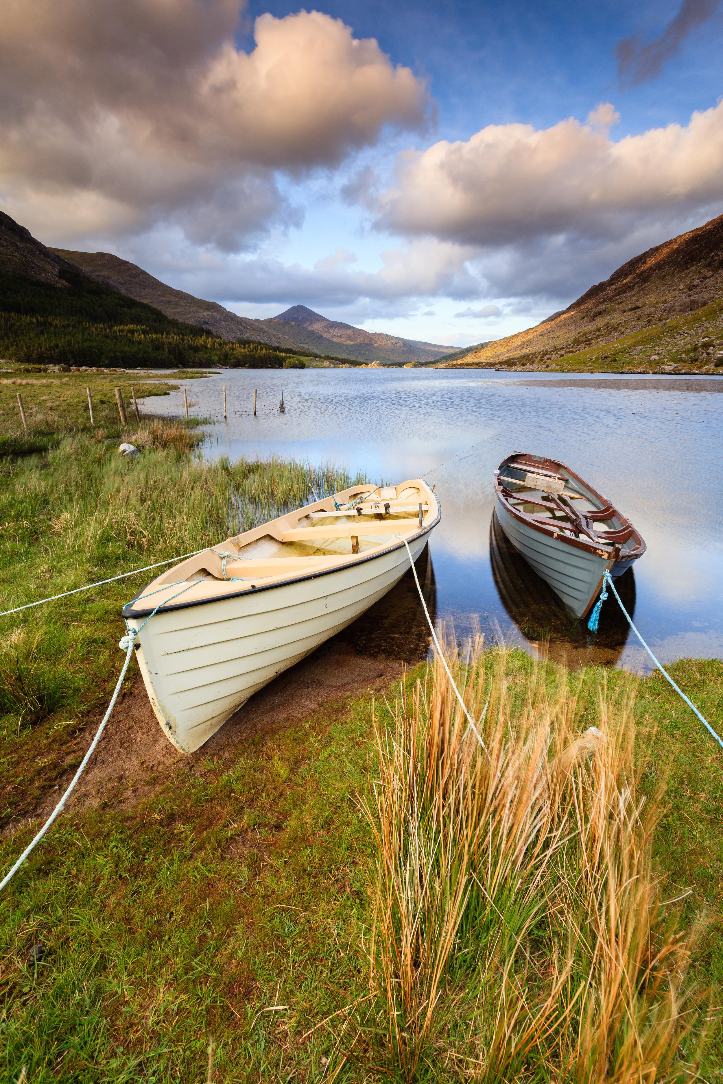 The Boats at Lough Gummeenduff