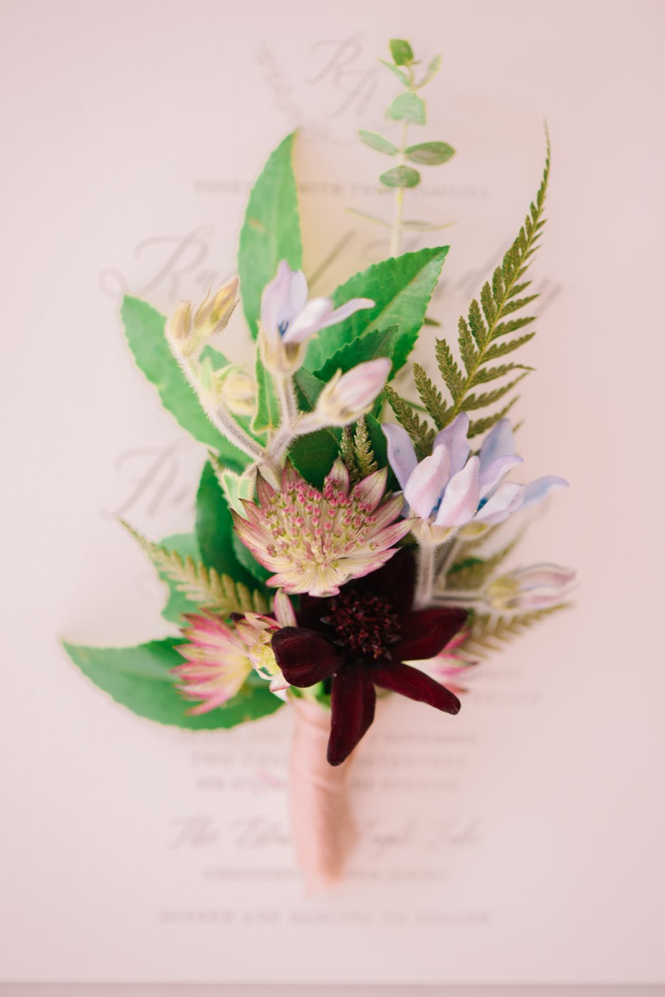 Photo courtesy of  All My Love Photography ; Boutonniere designed by  Botaniq Blooms