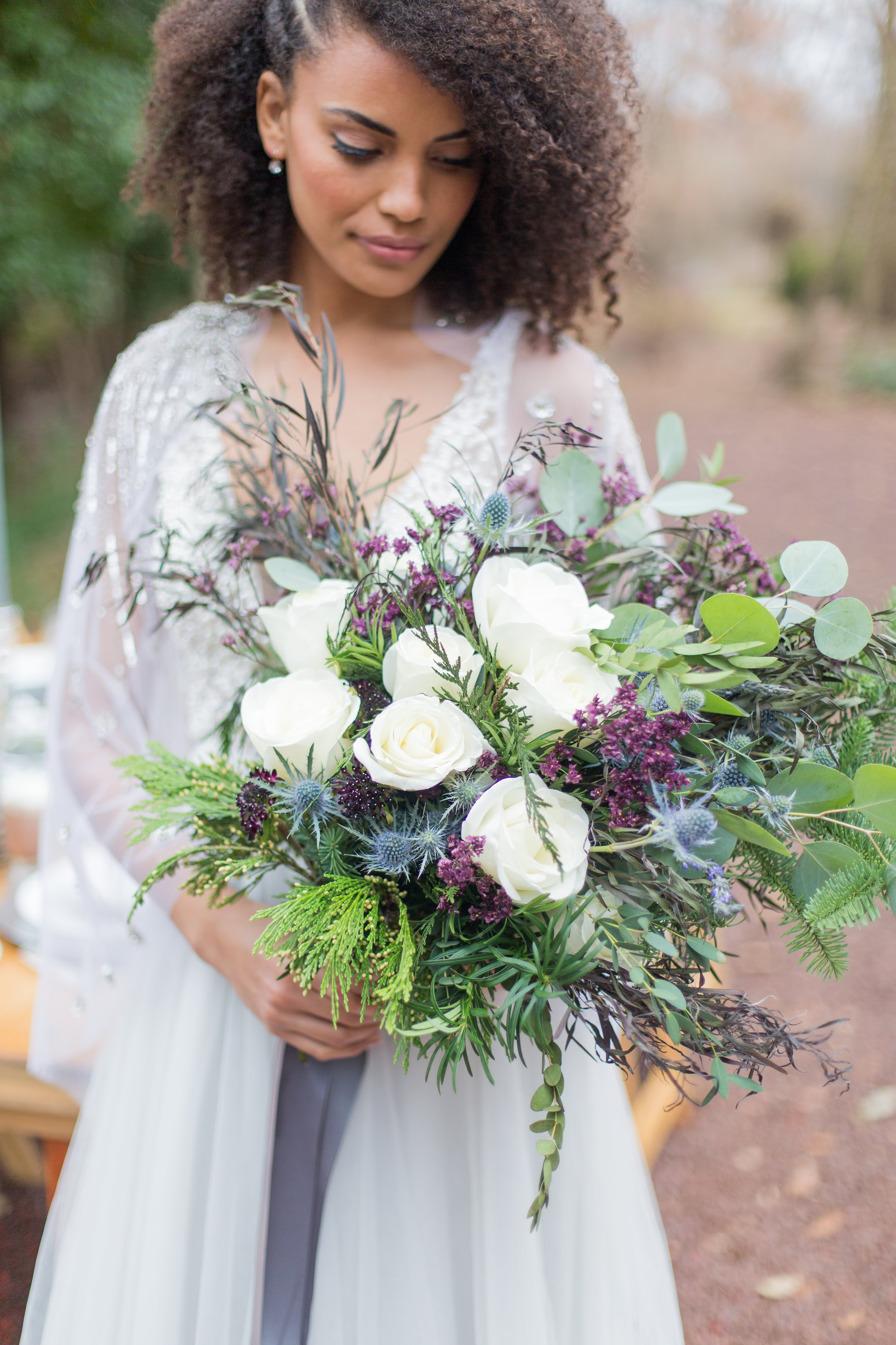 Photo courtesy of  Whimsical Imagery by Amberlee ; Bouquet designed by  Bloomsbury Floral Design