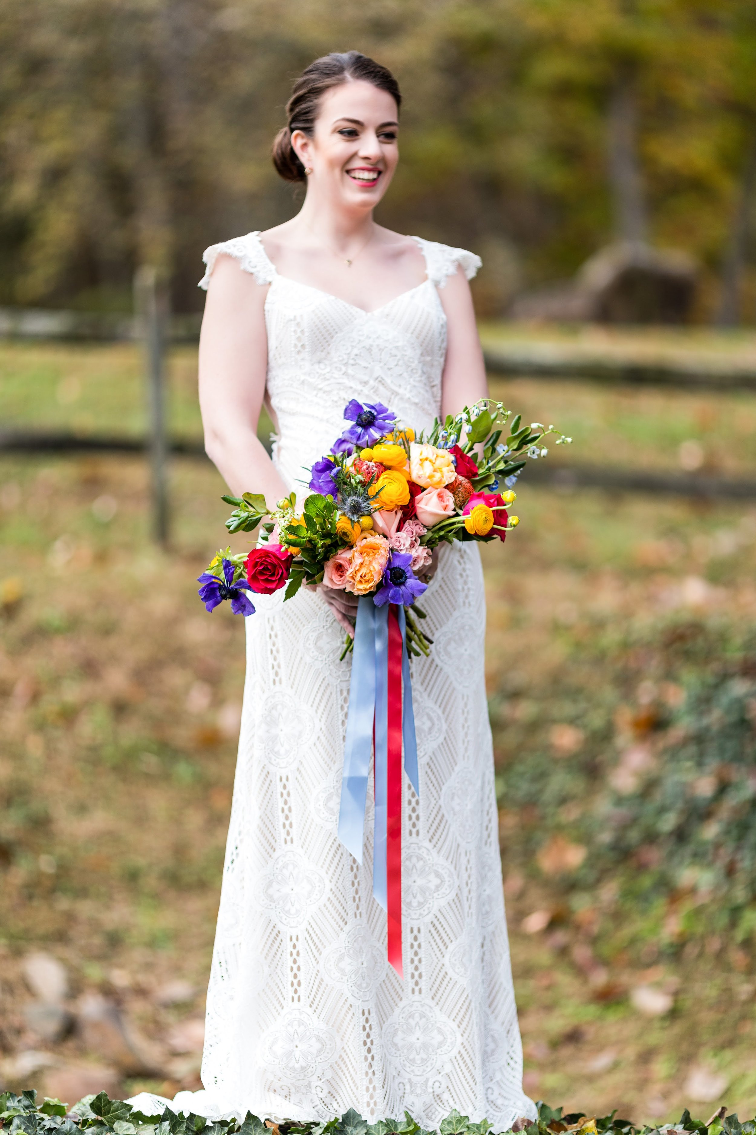 Photo courtesy of  Ashley Gerrity Photography ; Bouquet designed by  Lavender, Lilacs, and Love