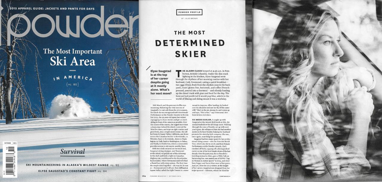 Powder Magazine Issue Oct 2014 - Profile by Julie Brown