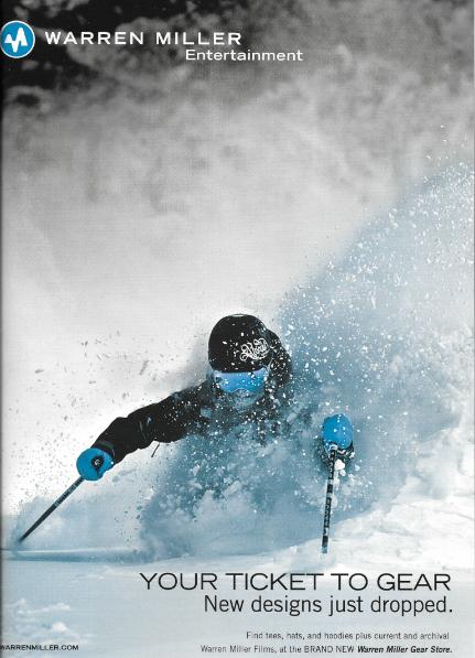 Warren Miller Entertainment's Ticket To Ride  Ski Movie and Snowworld Magazine 2013/14- featured athlete Elyse Saugstad