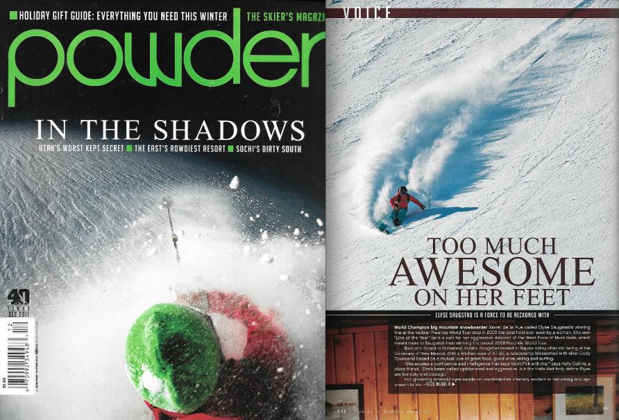 Powder Magazine Issue Dec 2011 - Voice Profileby Tess Weaver