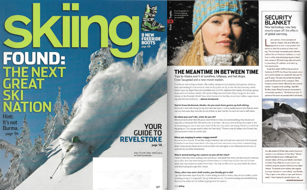 Skiing Magazine Issue Jan 2009 - Interview by Megan Michelson