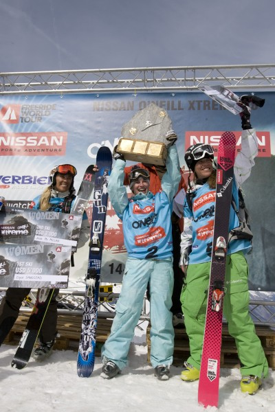 Elyse winning the final stop of the Freeride World Tour's Verbier Extreme in Switzerland and being crowned the Freeride World Tour Overall Champion.