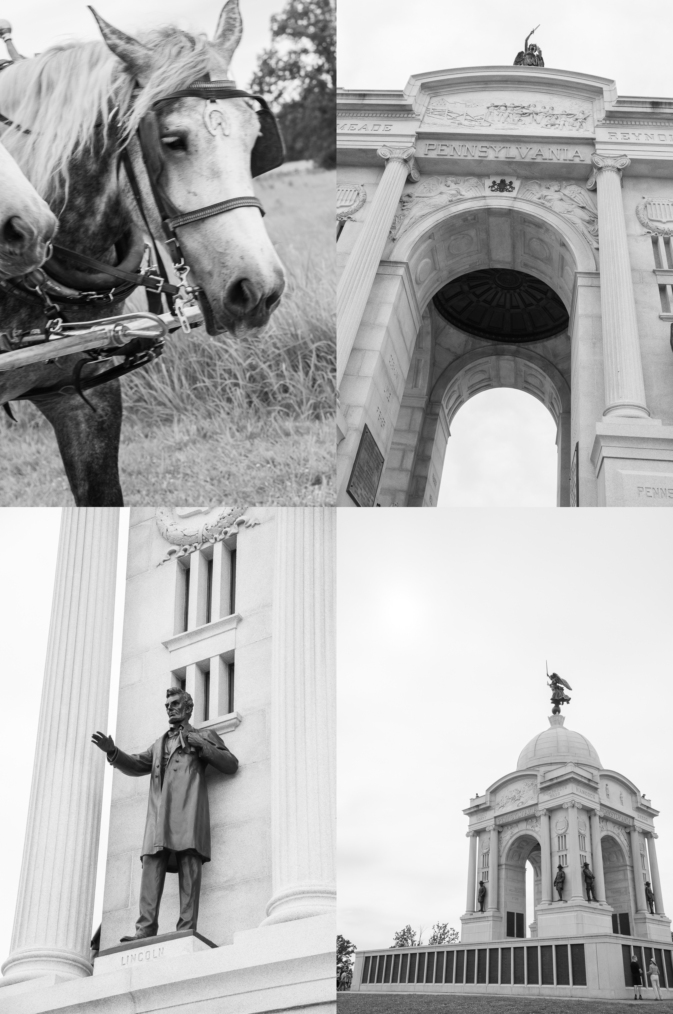 The Pennsylvania Memorial is the battlefield's largest and one of  over 12 state monuments.