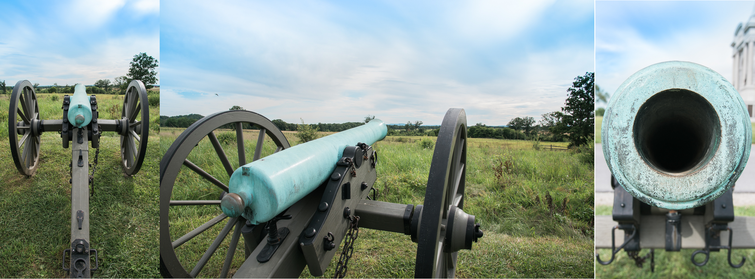 Beautiful patina on these canons, just outside the Pennsylvania Memorial