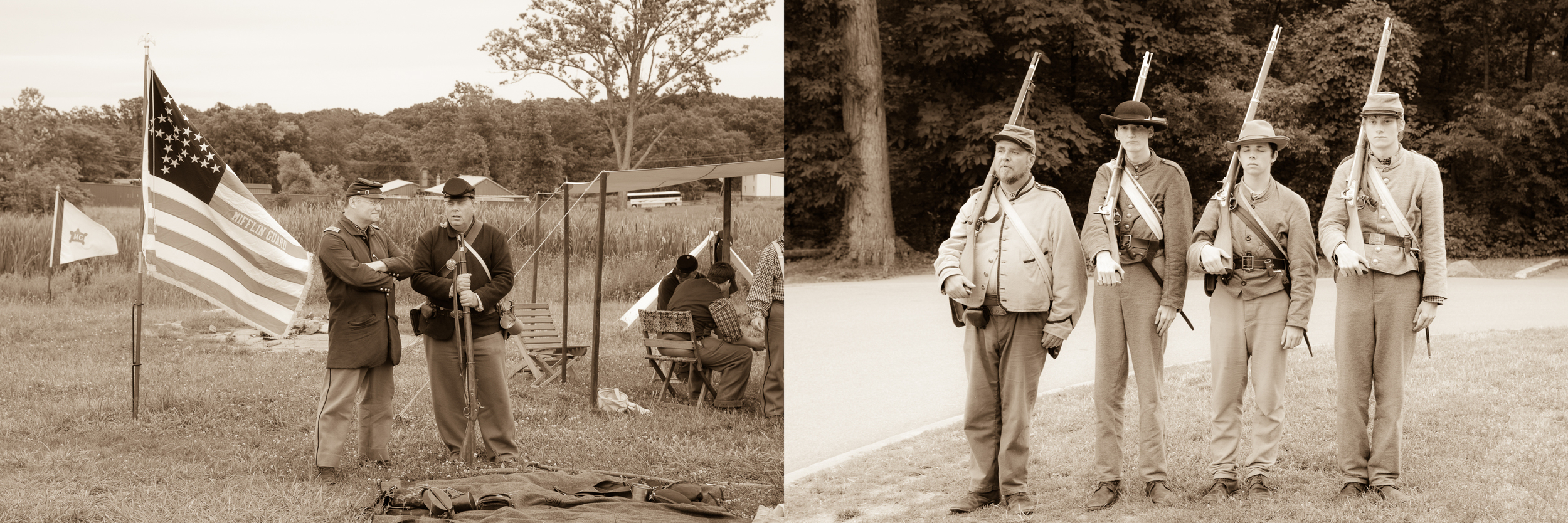 Reenactments were going on in all parts of the Battlefield areas