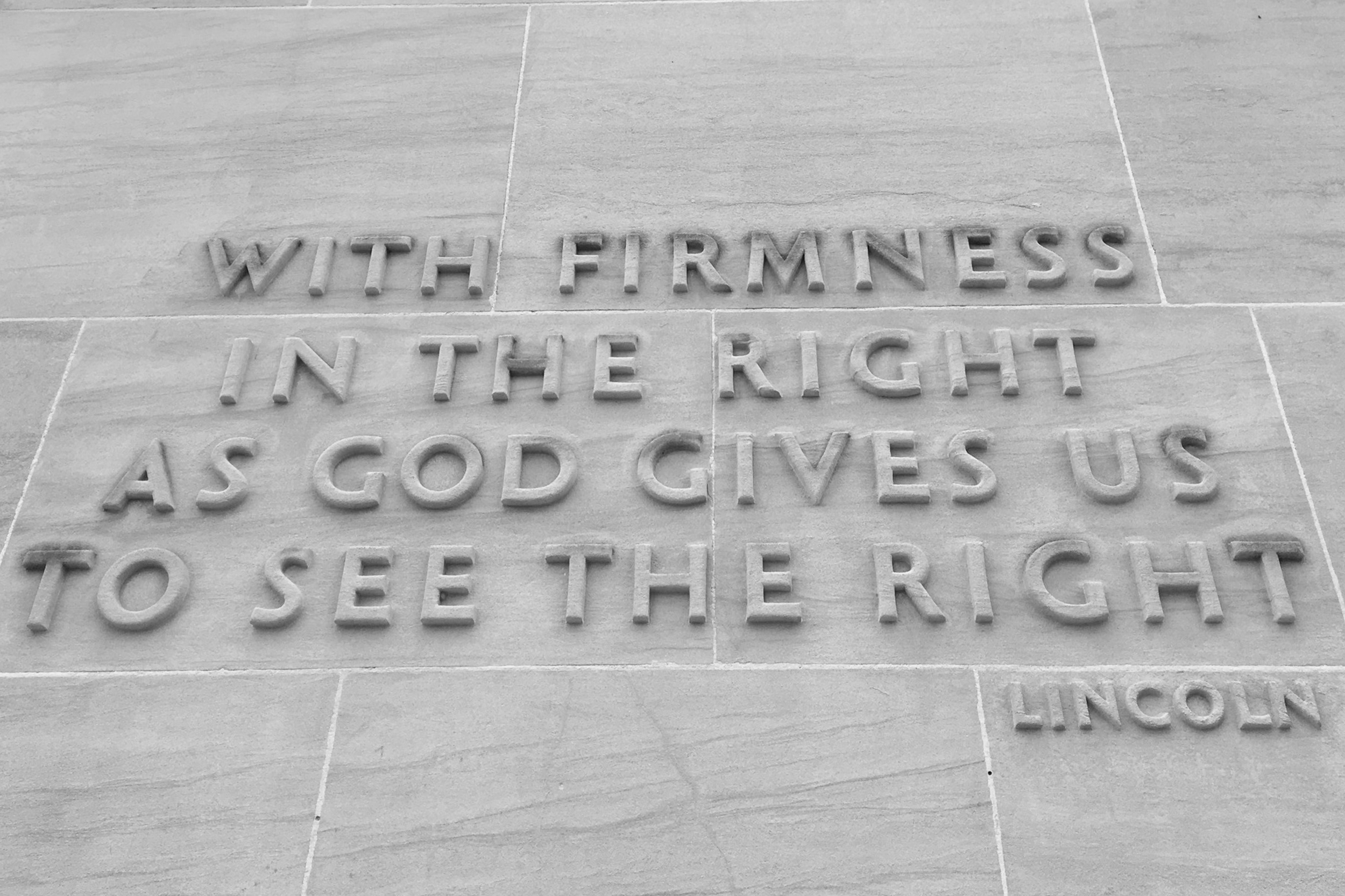 Written on the Eternal Light Peace Memorial - words to think on.