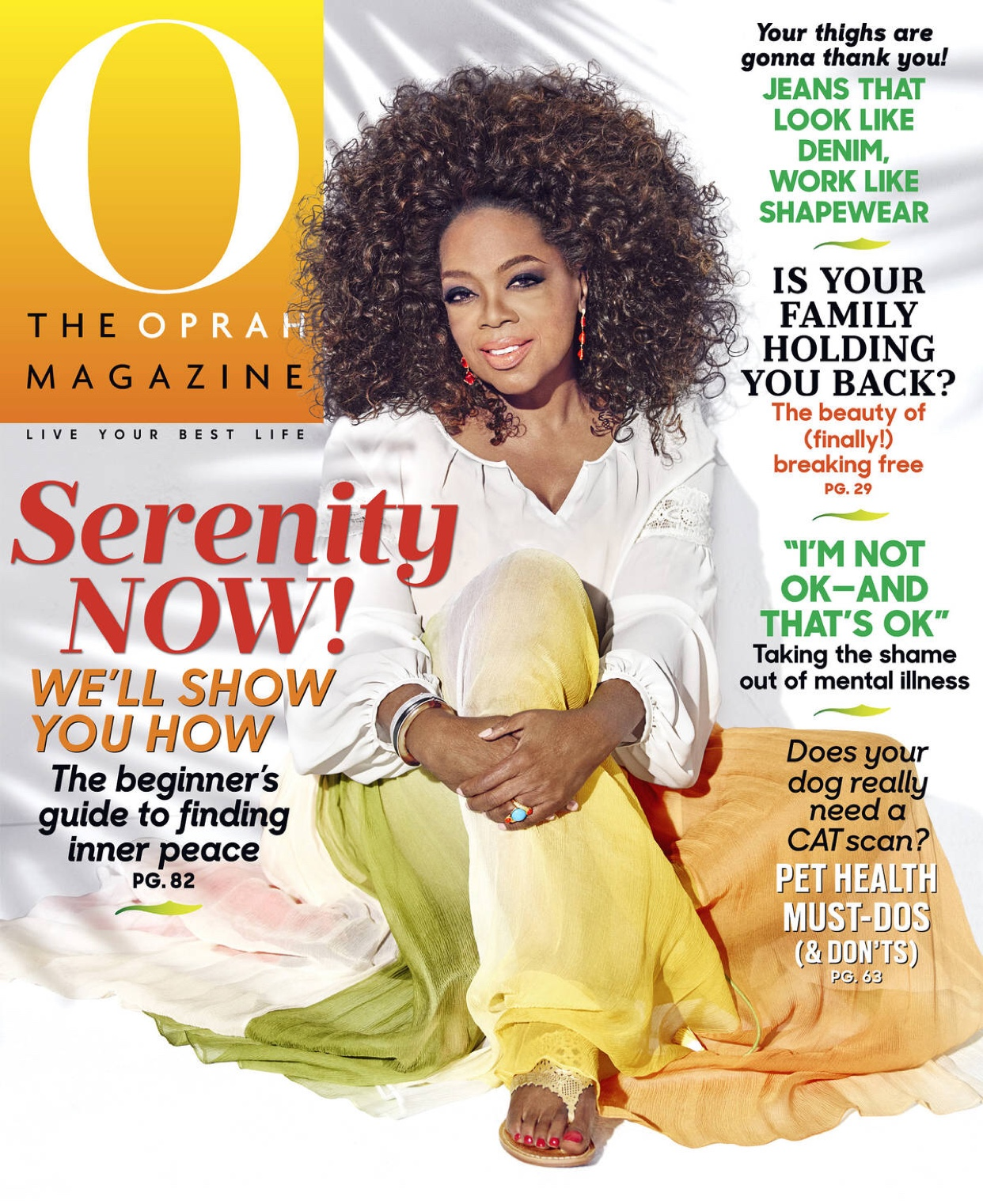 Featured in O, the Oprah Magazine - August 2016