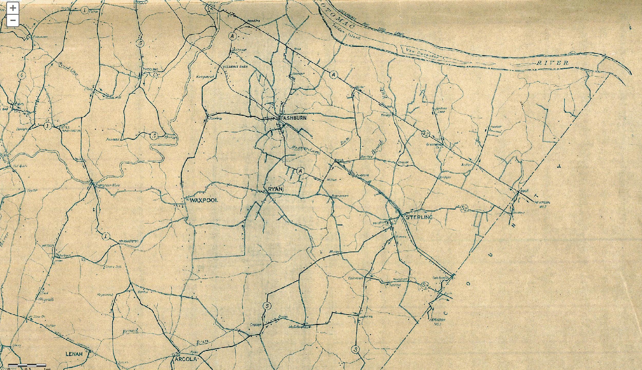 1926 Map courtesy of loudoun.gov