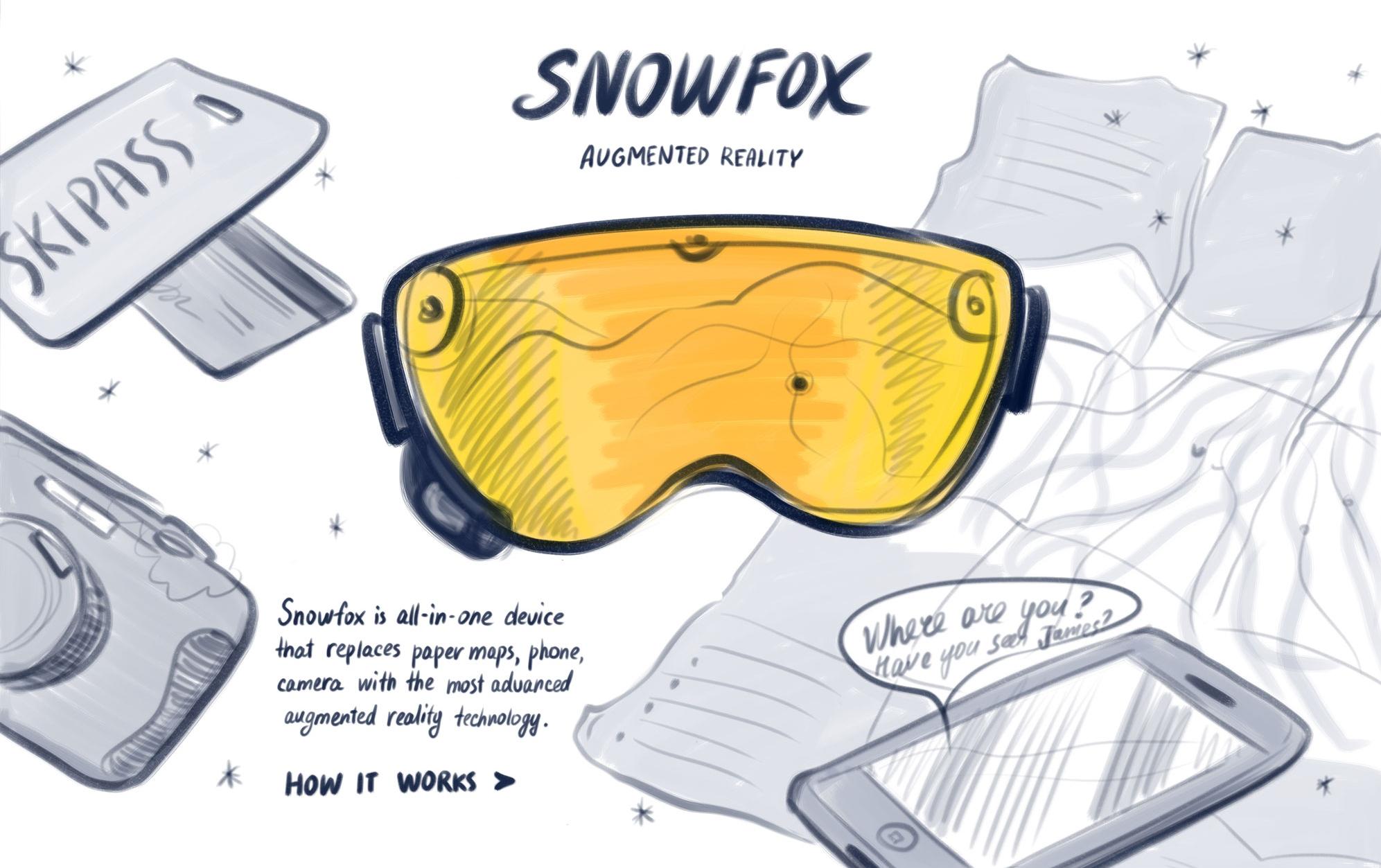 snow fox sketch