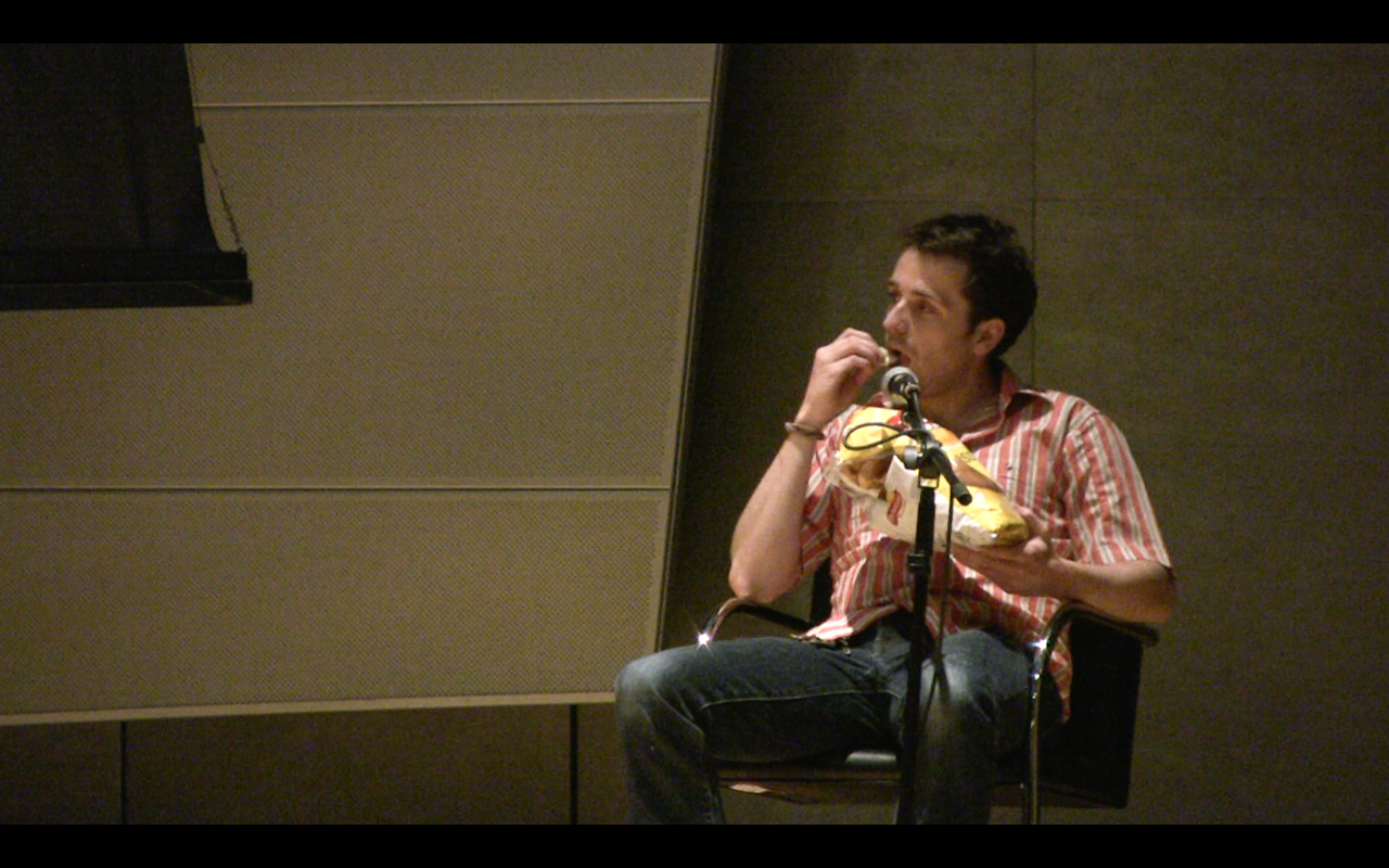 Jennings Eating Chips During a Few Words on 9/11