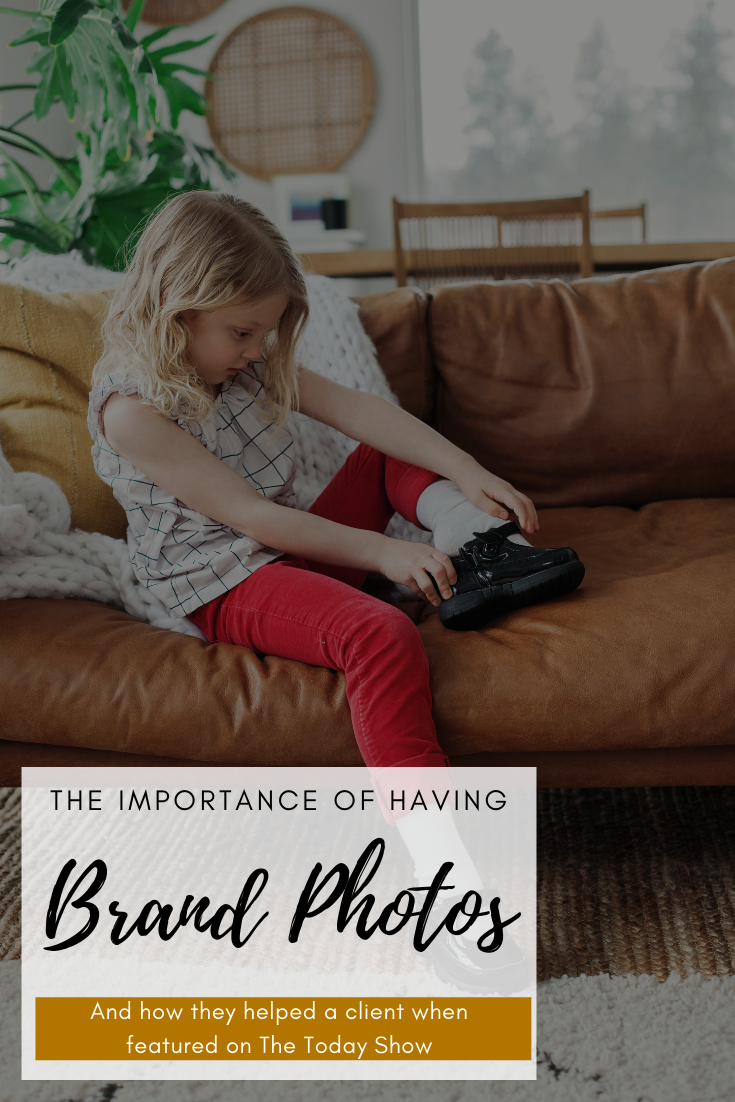 Why having BRAND PHOTOS are important (and how they helped a client on The Today Show). Photos by The Suitcase Studio - providing personal brand and business photography