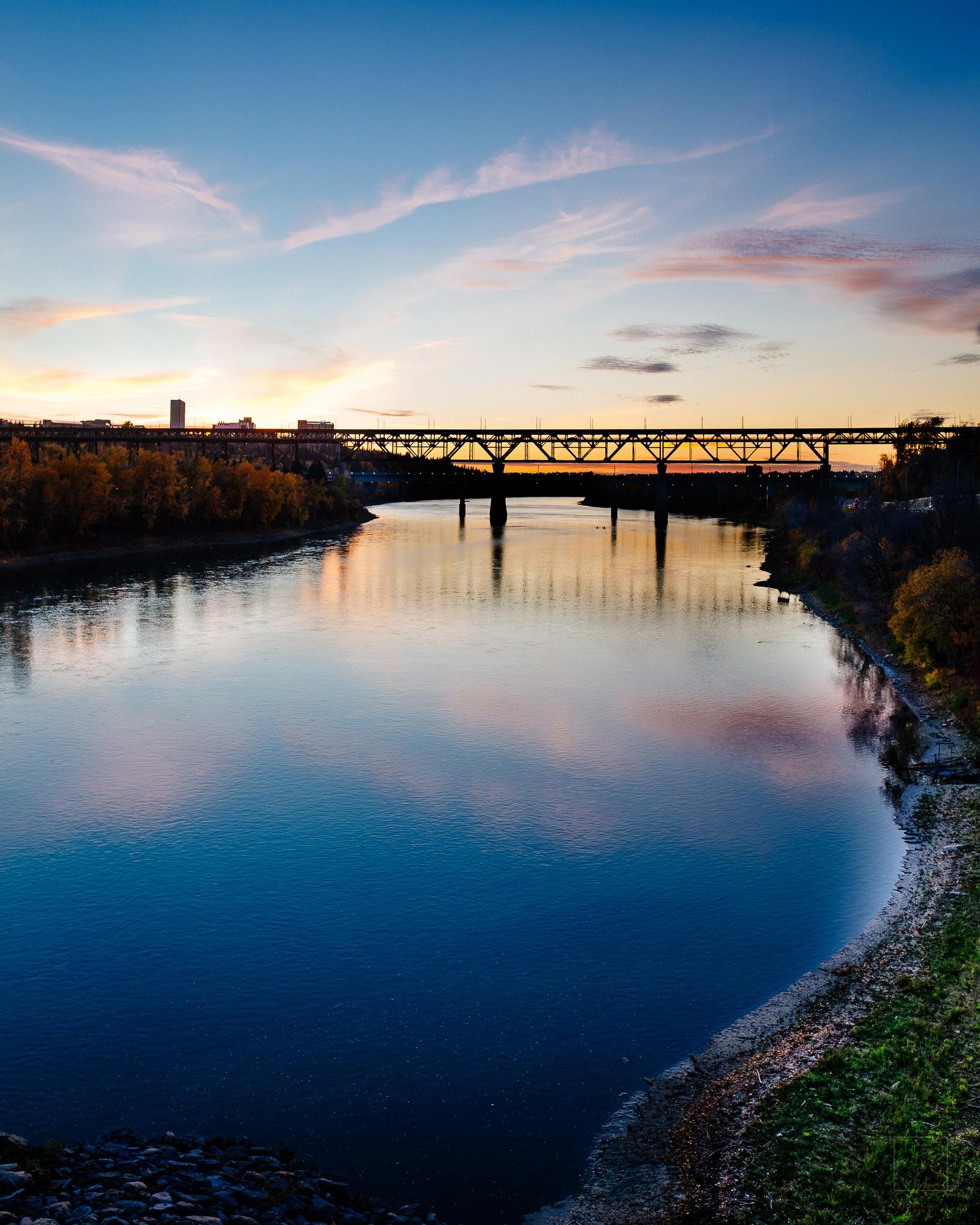 Dusk on the North Saskatchewan