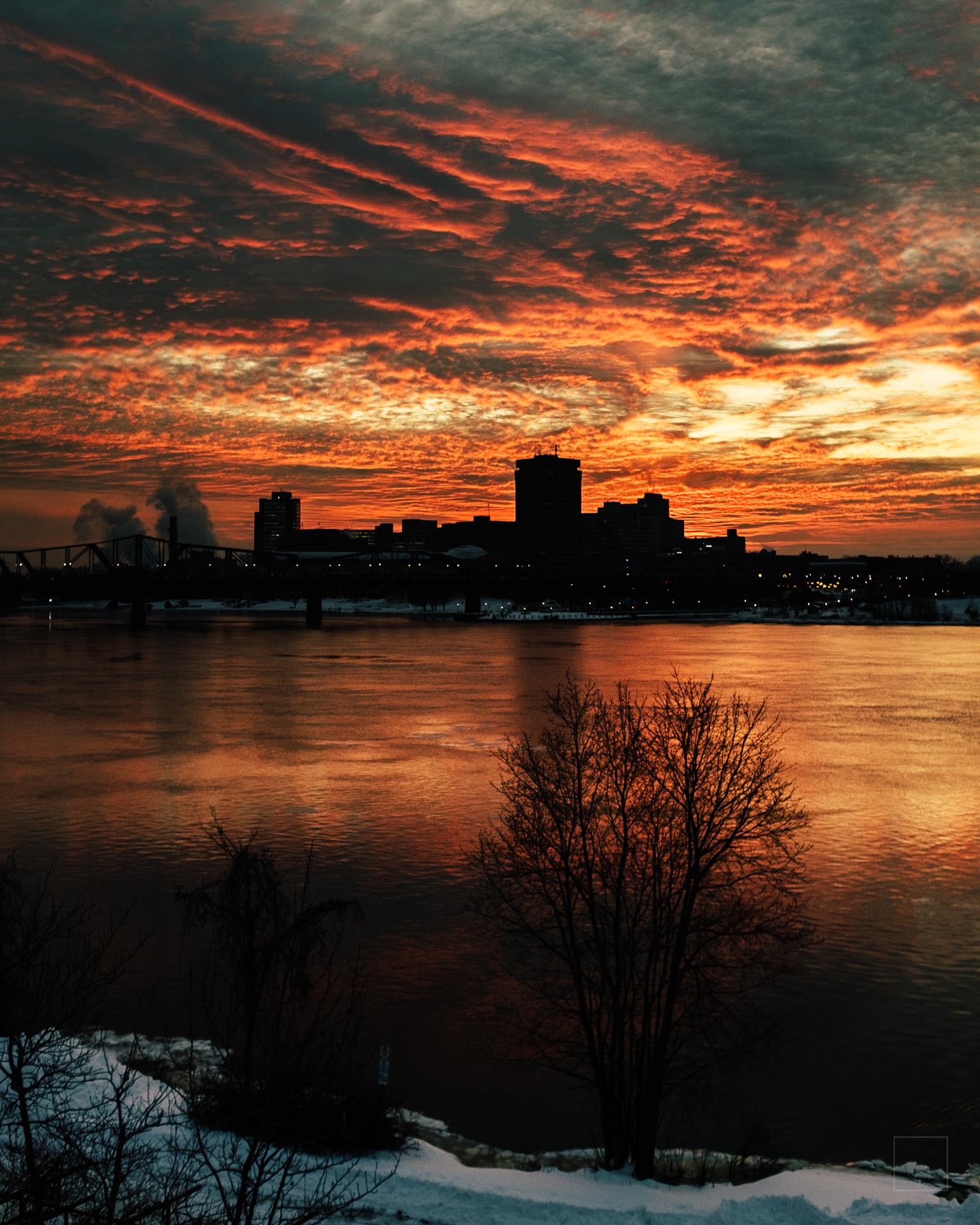 Last light over the Ottawa River