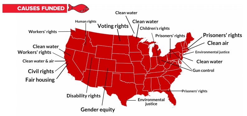 How we distribute funds by state and cause