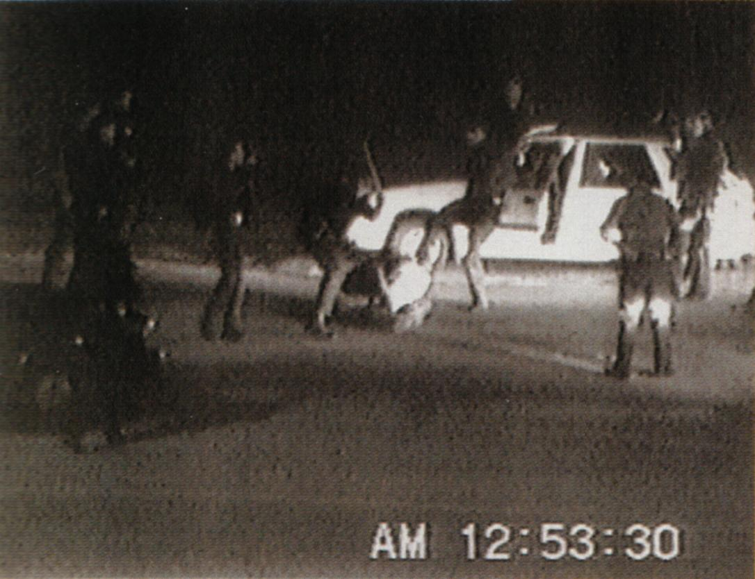 Police beat Rodney King in March 1991 (video by George Holliday)