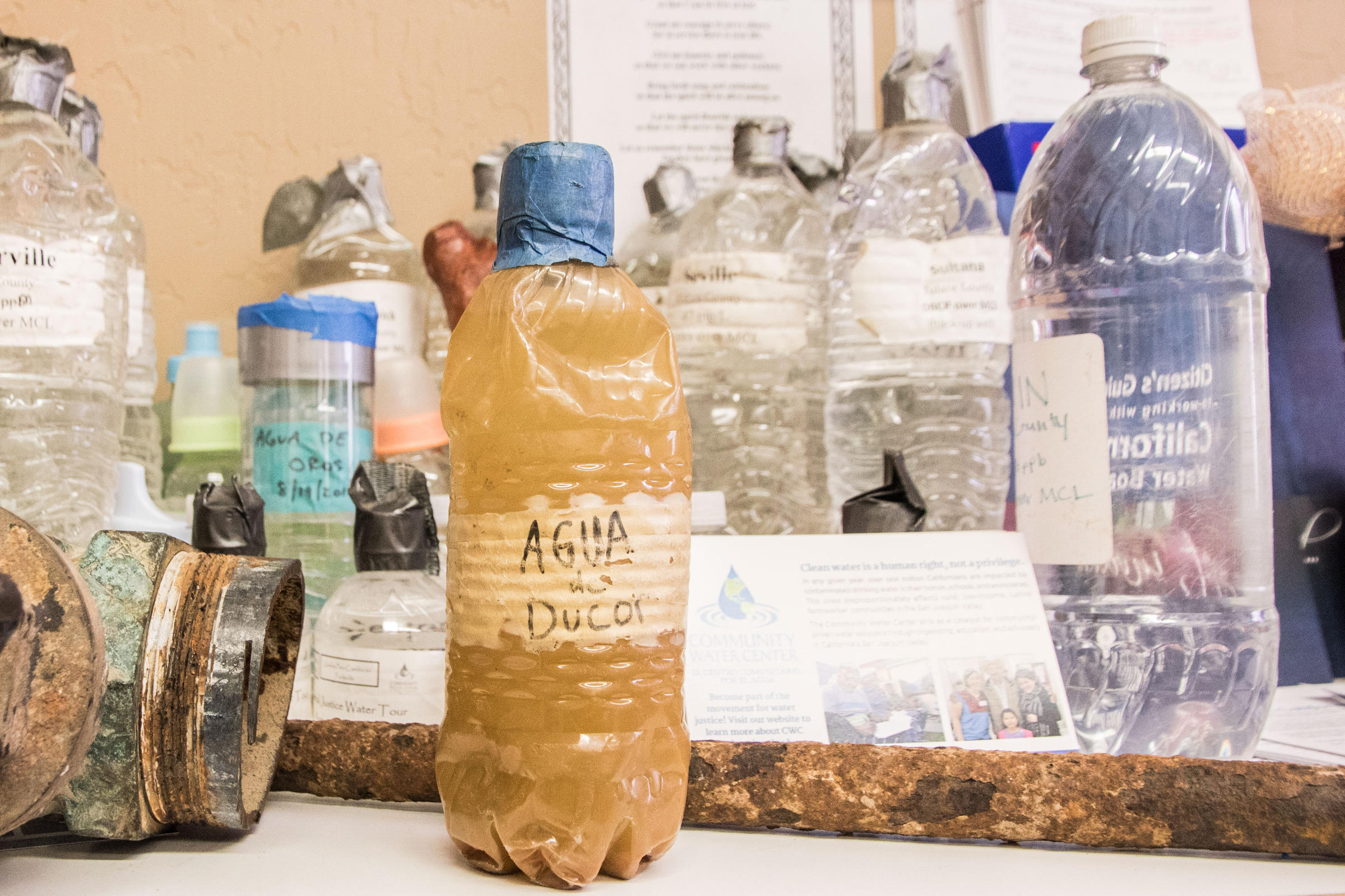 Samples of tap water collected from around the San Joaquin Valley