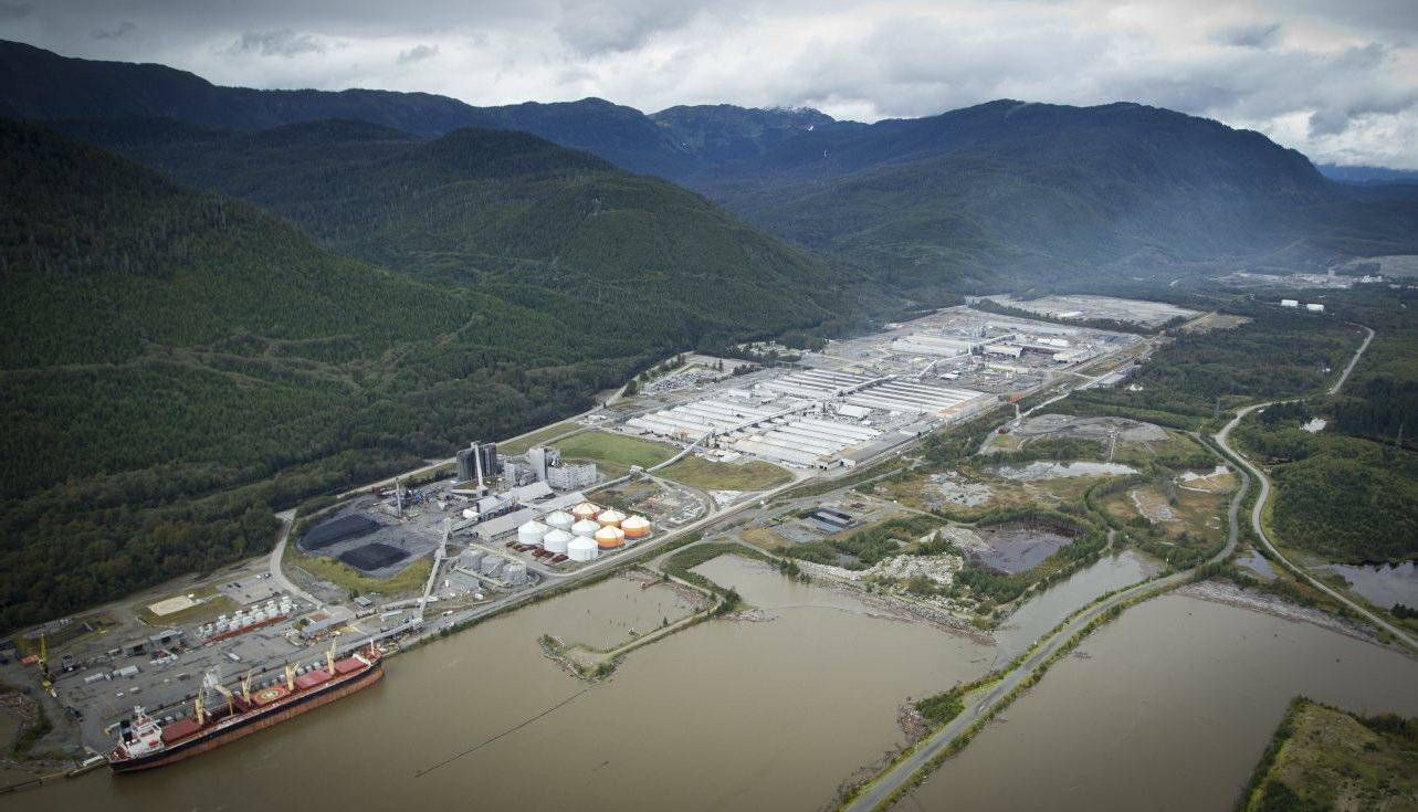 The Rio Tinto facility at Kitimat is colossal