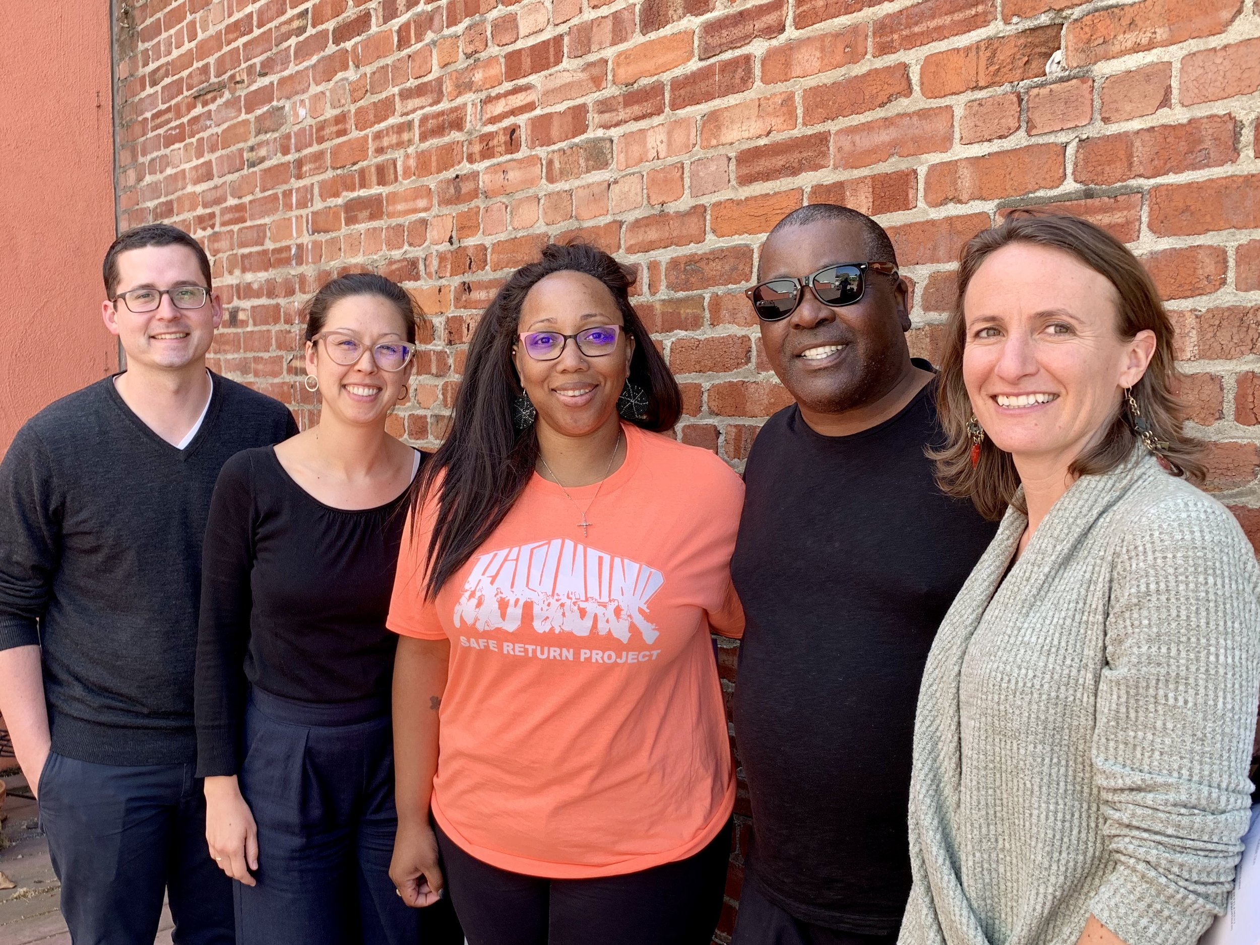 Caption to attached photo (L to R): Daniel Nesbit, Impact Fund, Law Fellow; Lindsay Nako, Impact Fund, Director of Litigation & Training; Tamisha Walker, Plaintiff Safe Return Project, Executive Director; Plaintiff Walter Killian; Rebekah Evenson, Bay Area Legal Aid, Director of Litigation & Advocacy