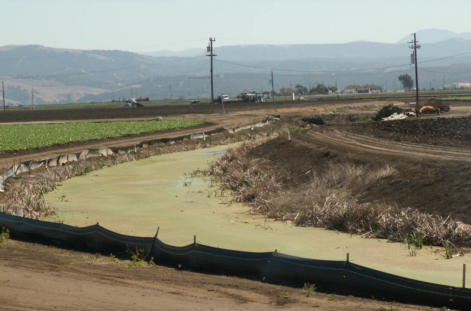 Groundwater that residents depend on is heavily polluted by agricultural discharges.