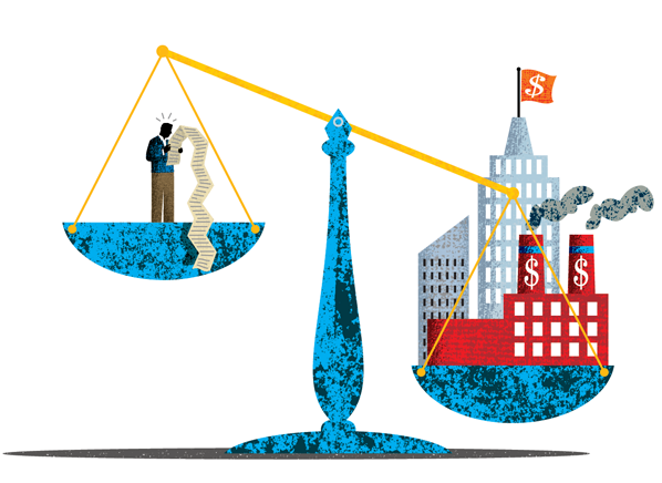 Forced arbitration favors big business and is often in the small print.