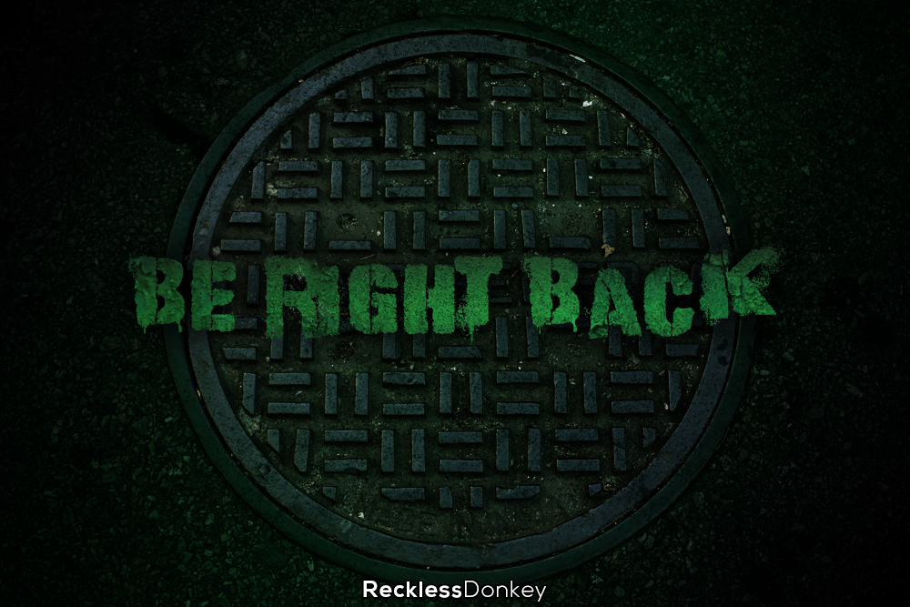 """""""Be Right Back"""" Screen Example"""
