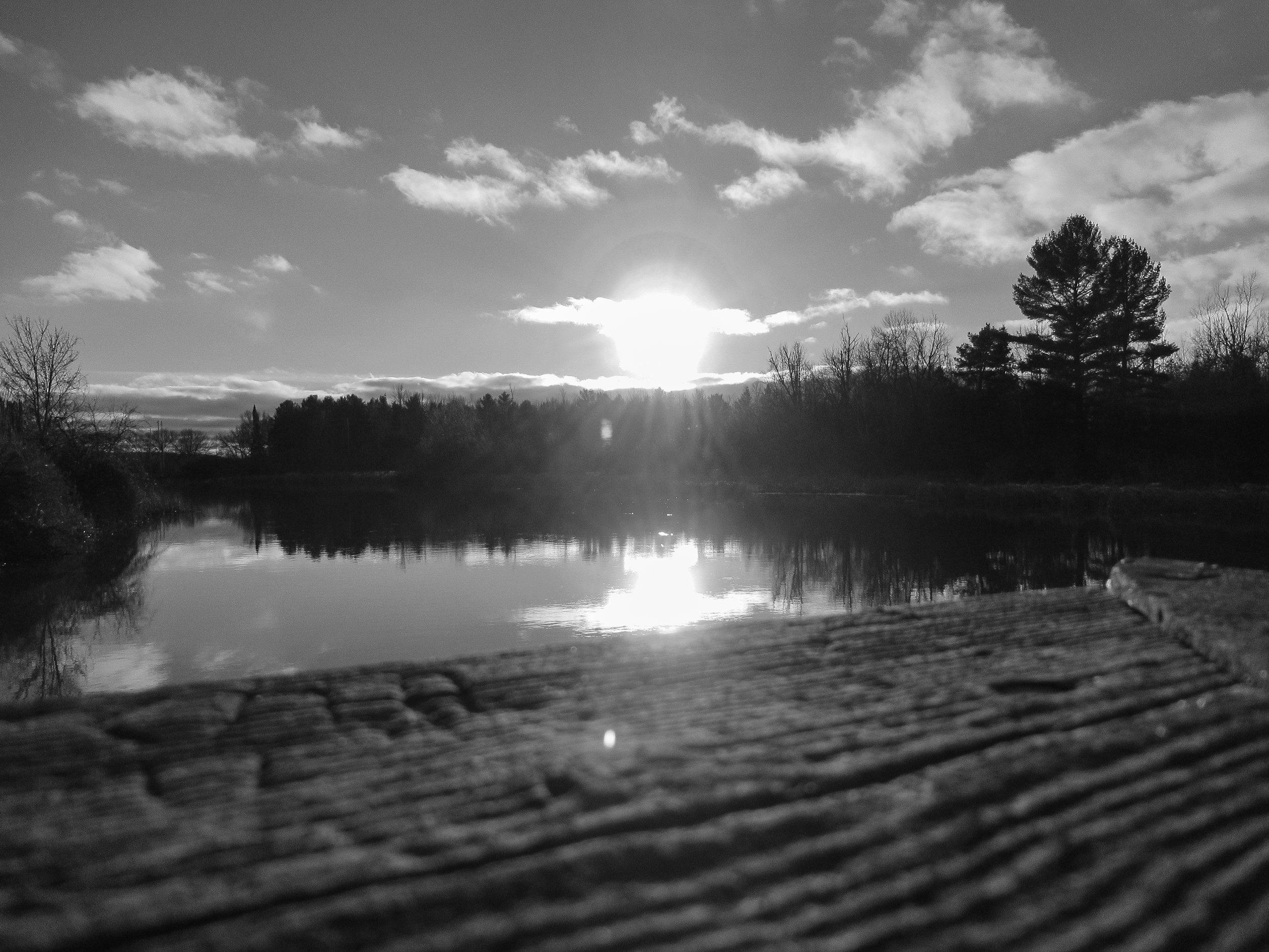 Water Sunset BW.jpg