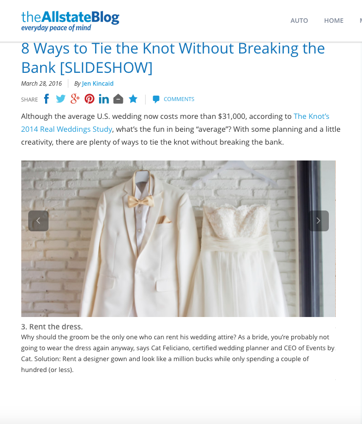 8 Ways to tie the Knot Without Breaking the Bank,    the Allstate Blog