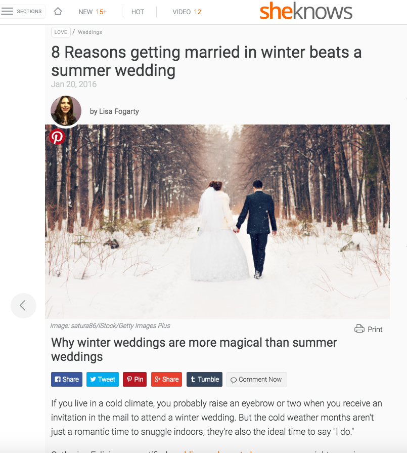 8 Reasons getting married in winter beats a summer wedding,    SheKnows