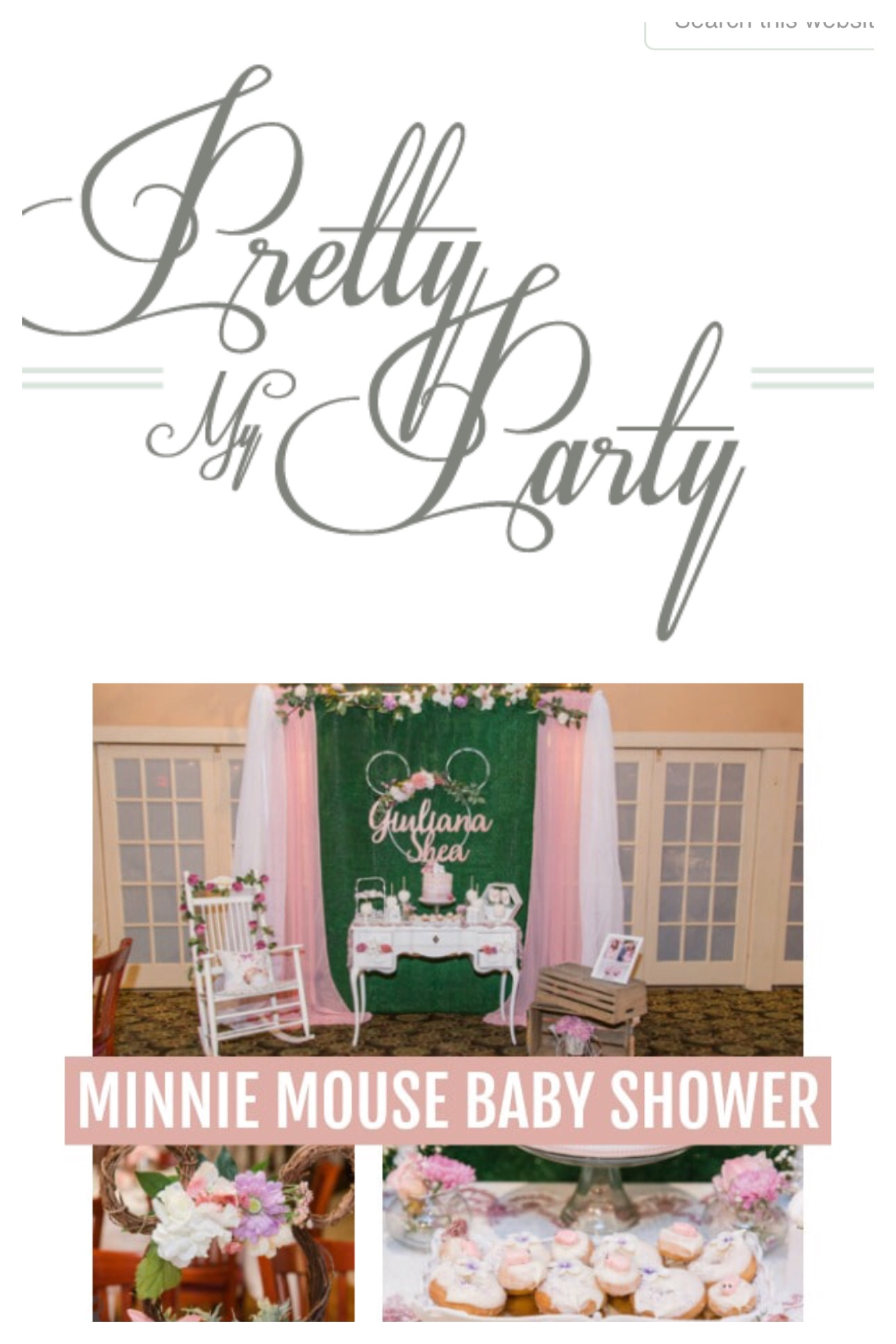 Garden Minnie Mouse Baby Shower Feature in     Pretty My Party